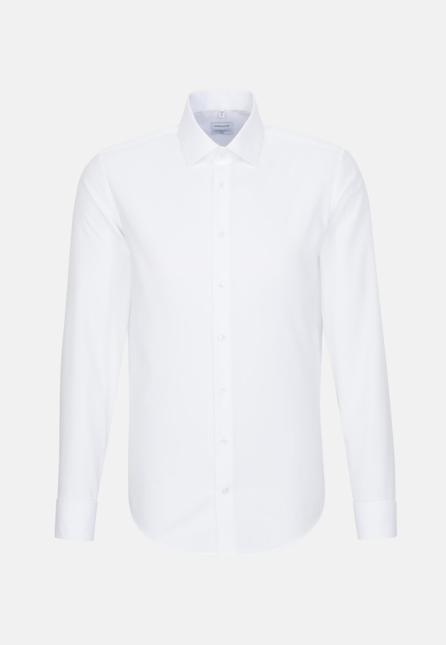 Non-iron Poplin Business Shirt in Slim with Kent-Collar in White    Seidensticker Onlineshop