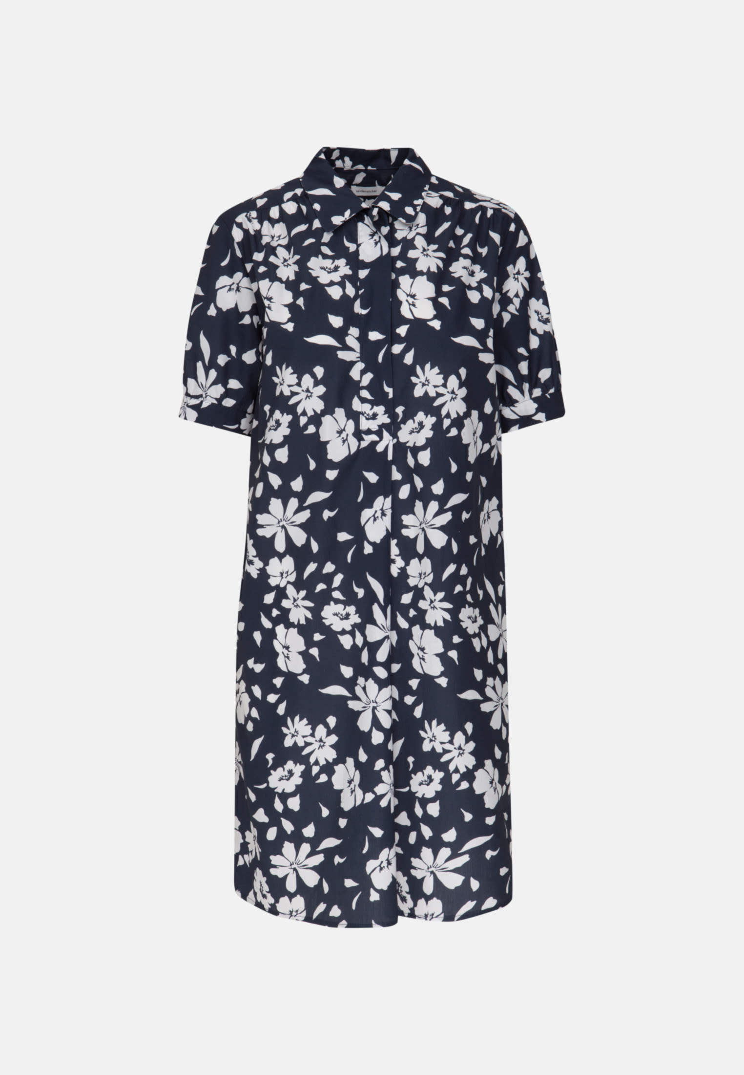 Poplin Midi Dress made of 100% Cotton in Dark blue |  Seidensticker Onlineshop