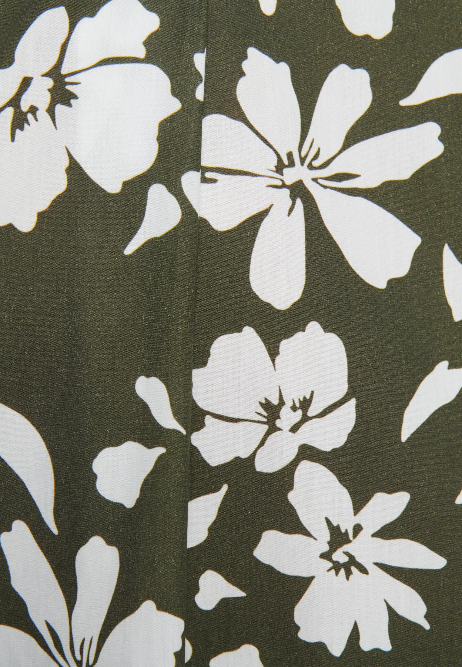 Popeline Midi Kleid aus 100% Baumwolle in Grün |  Seidensticker Onlineshop