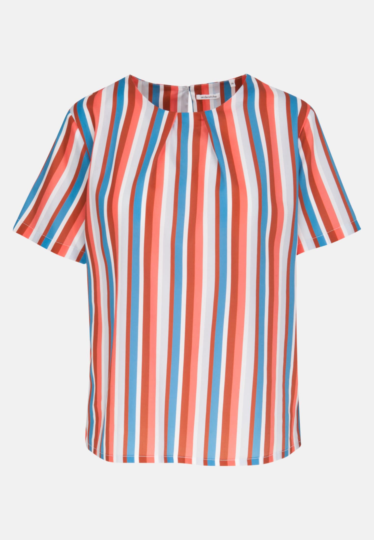 Short sleeve Satin Shirt Blouse made of 100% Cotton in Pink |  Seidensticker Onlineshop