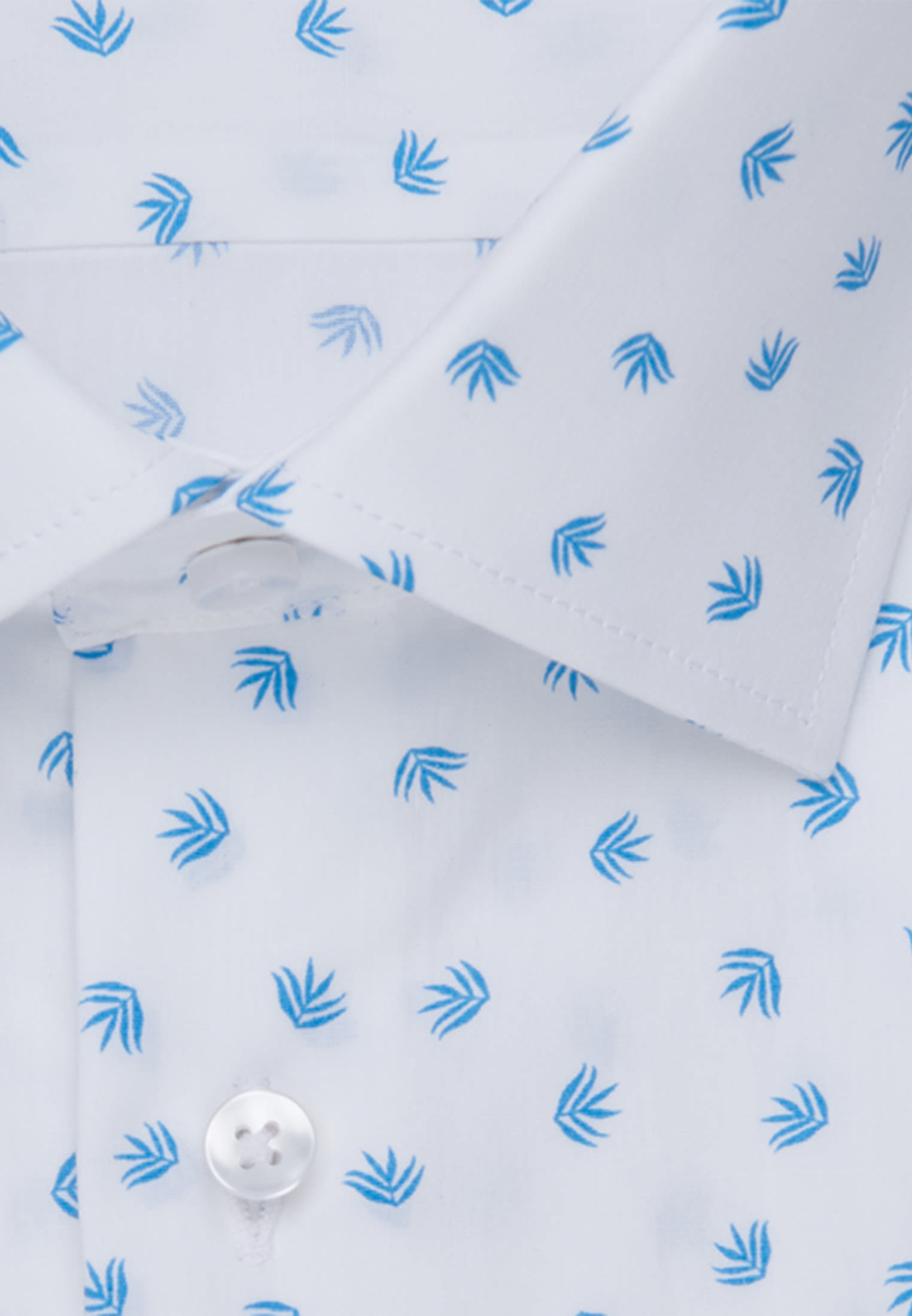 Bügelleichtes Popeline Business Hemd in Shaped mit Kentkragen in Türkis/Petrol |  Seidensticker Onlineshop