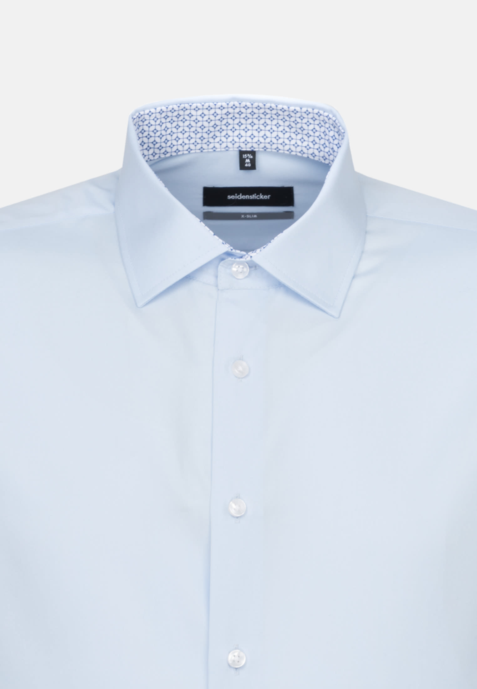 Non-iron Poplin Business Shirt in X-Slim with Kent-Collar in Light blue |  Seidensticker Onlineshop