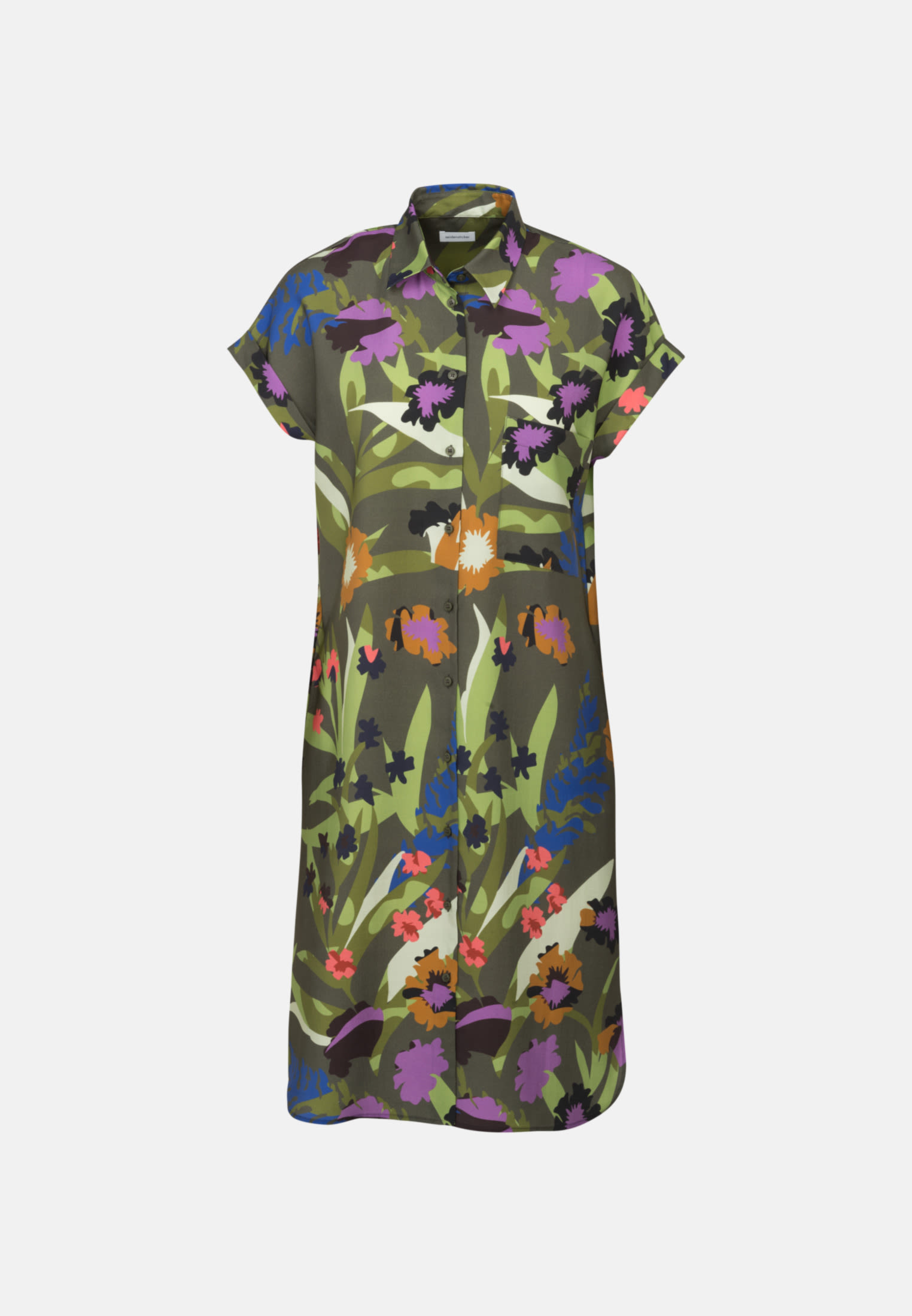 Twill Midi Dress made of tencel blend in Green |  Seidensticker Onlineshop