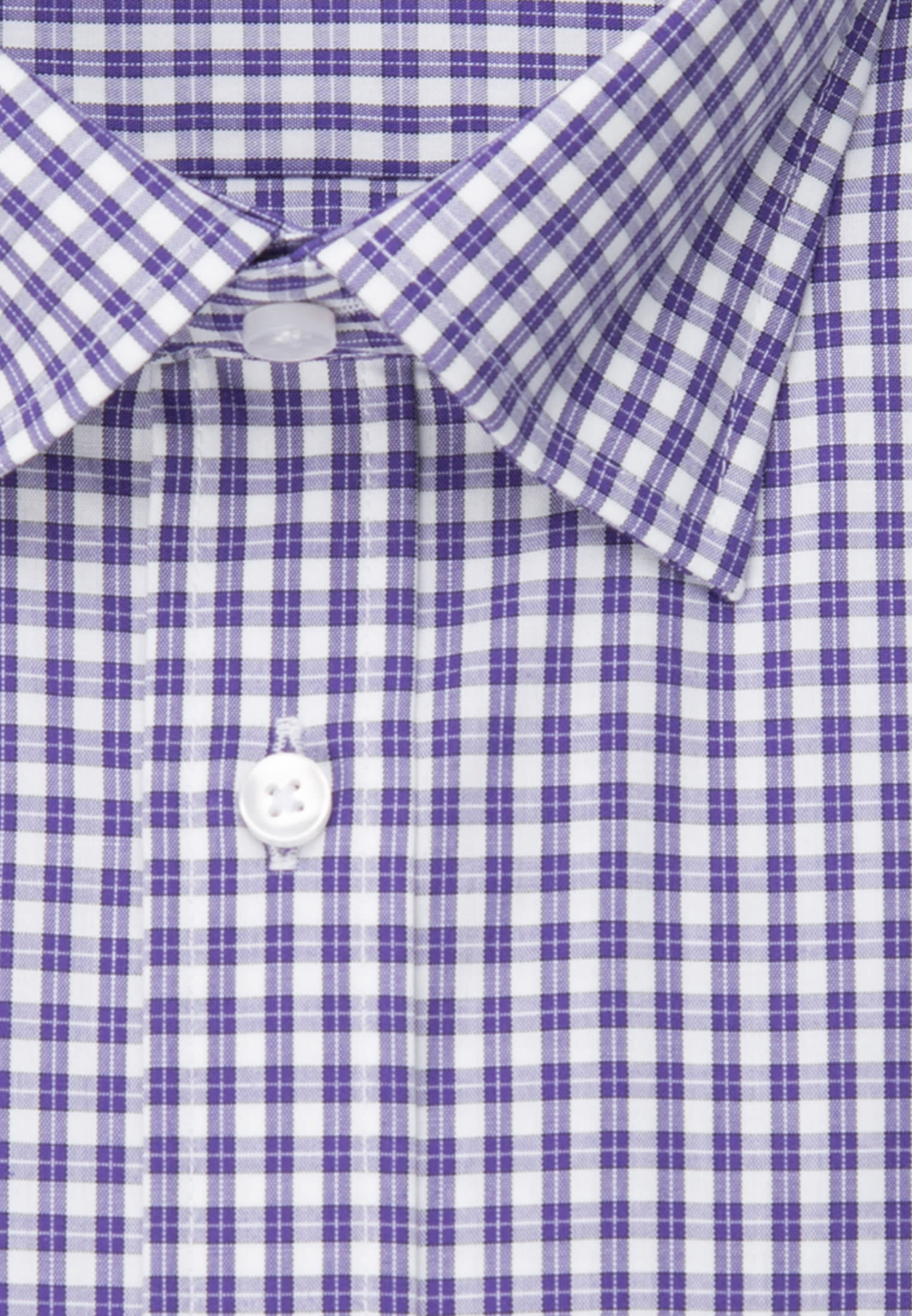 Bügelfreies Popeline Business Hemd in Regular mit Covered-Button-Down-Kragen in Lila |  Seidensticker Onlineshop