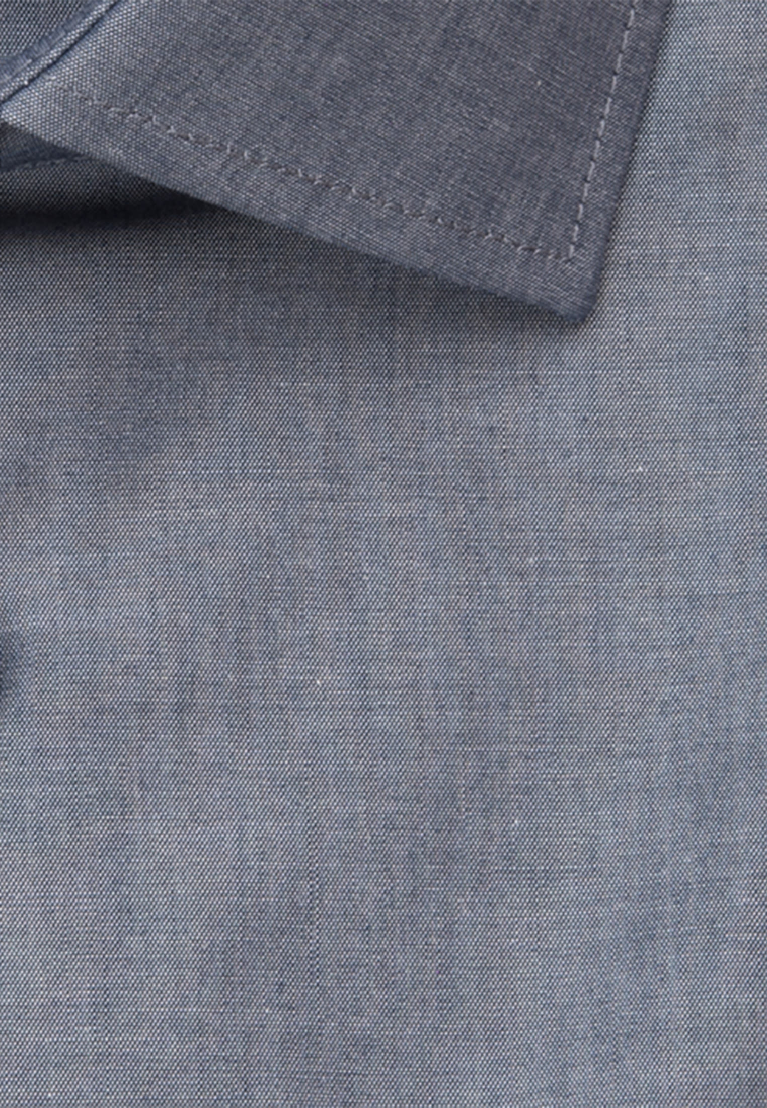 Bügelfreies Chambray Kurzarm Business Hemd in Regular mit Kentkragen in Dunkelblau |  Seidensticker Onlineshop