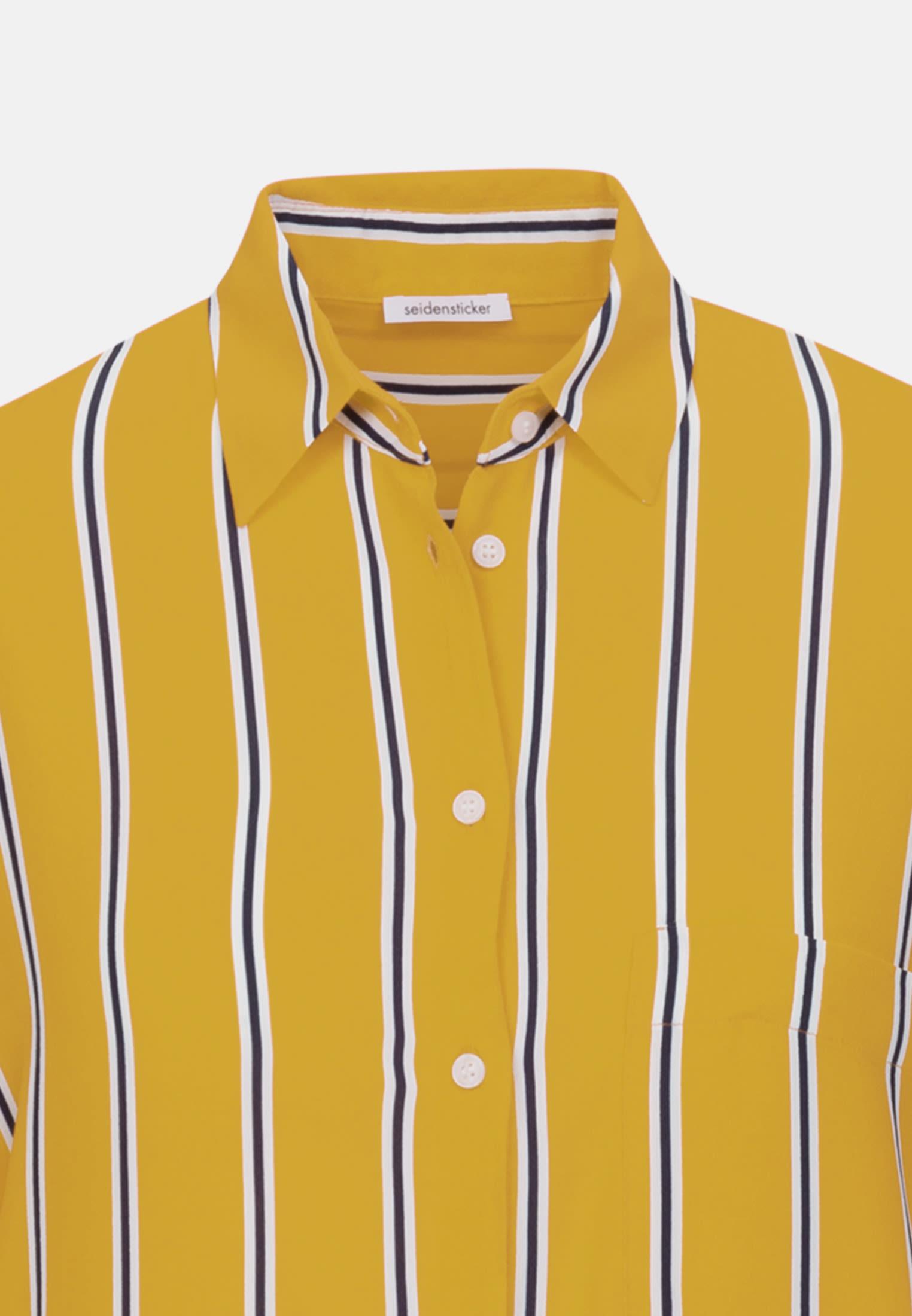 Crepe Midi Dress made of 100% Viscose in Yellow |  Seidensticker Onlineshop