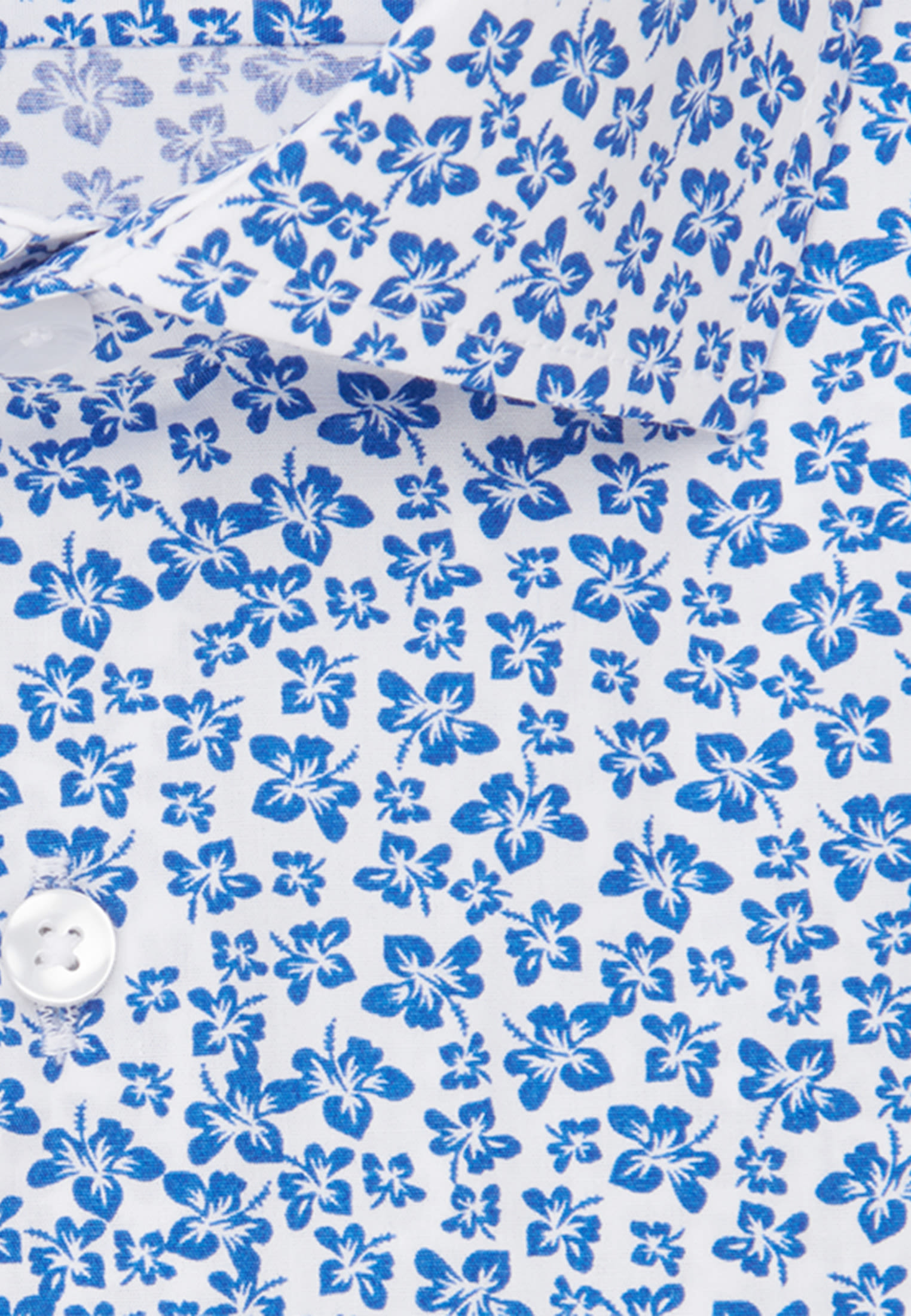 Easy-iron Poplin Short sleeve Business Shirt in Slim with Kent-Collar in Medium blue |  Seidensticker Onlineshop
