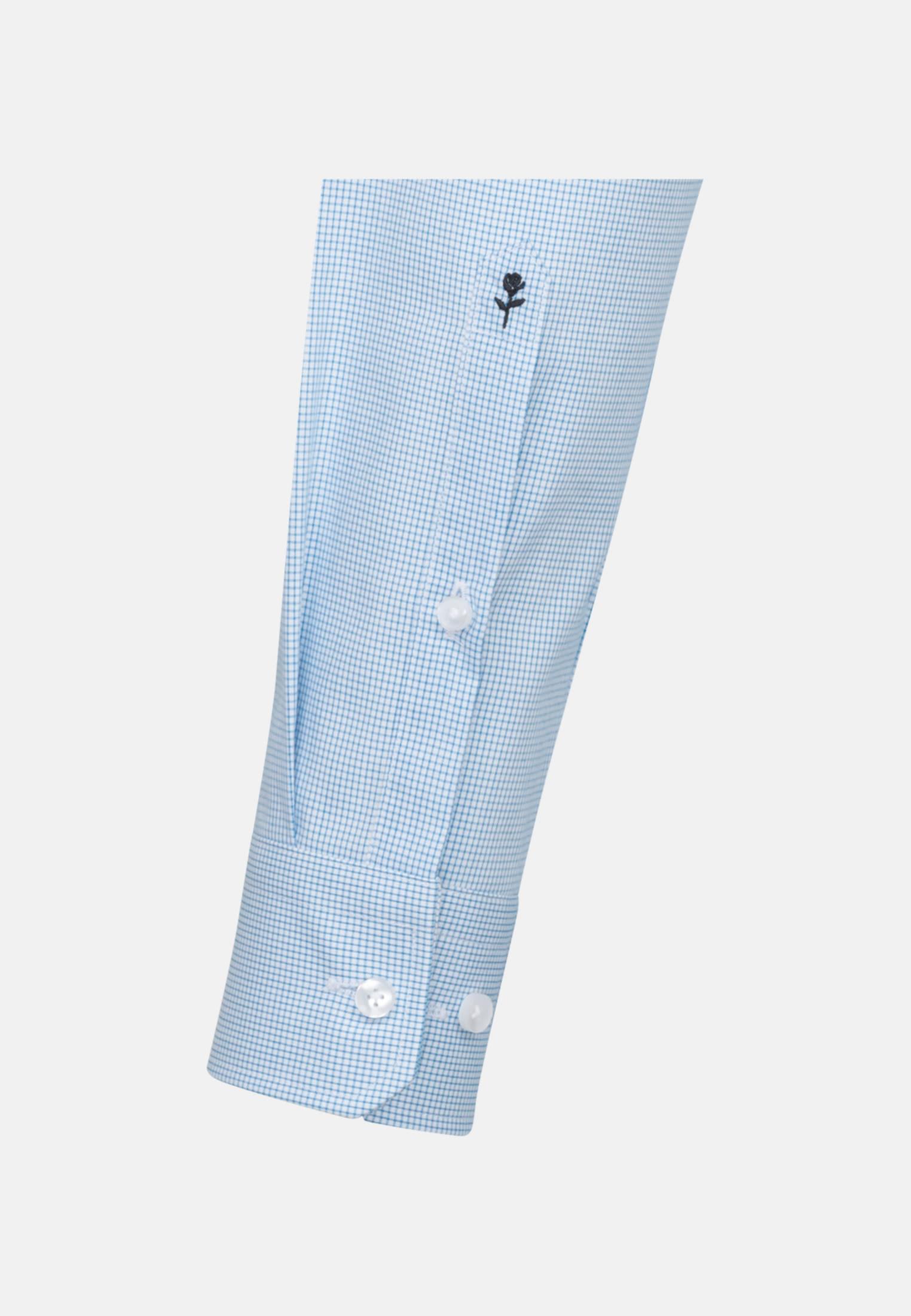Bügelfreies Popeline Business Hemd in X-Slim mit Kentkragen in Türkis/Petrol |  Seidensticker Onlineshop