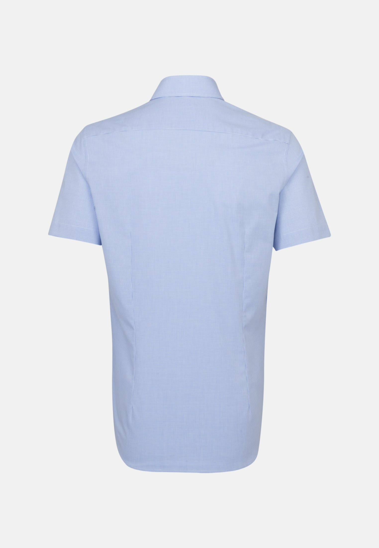 Non-iron Poplin Short sleeve Business Shirt in Slim with Kent-Collar in Light blue |  Seidensticker Onlineshop