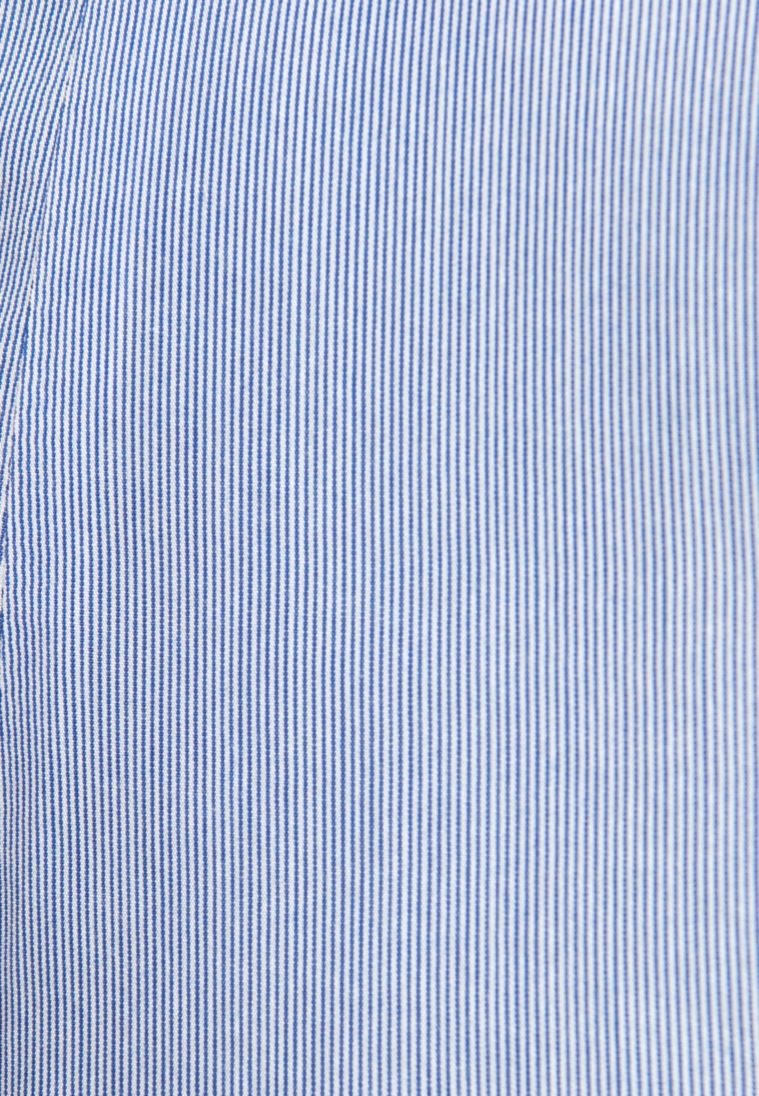 Popeline Kelchkragenbluse aus 100% Baumwolle in Mittelblau |  Seidensticker Onlineshop