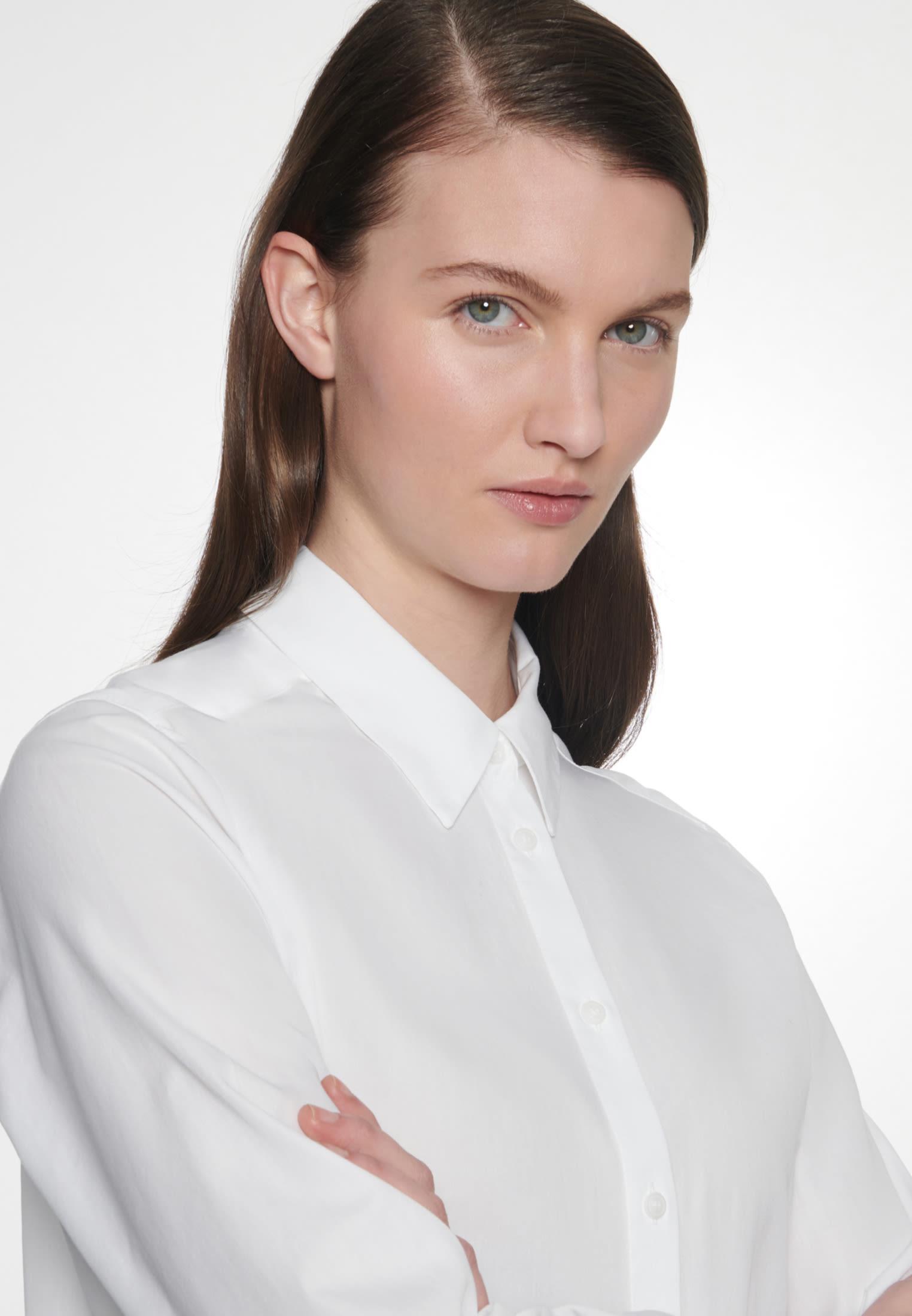 Twill Longbluse aus 100% Baumwolle in Weiß |  Seidensticker Onlineshop