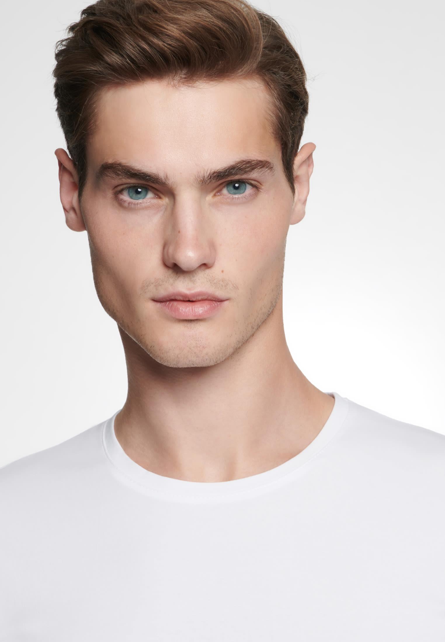 Rundhals T-Shirt aus 95% Baumwolle 5% Elastan in Weiß |  Seidensticker Onlineshop