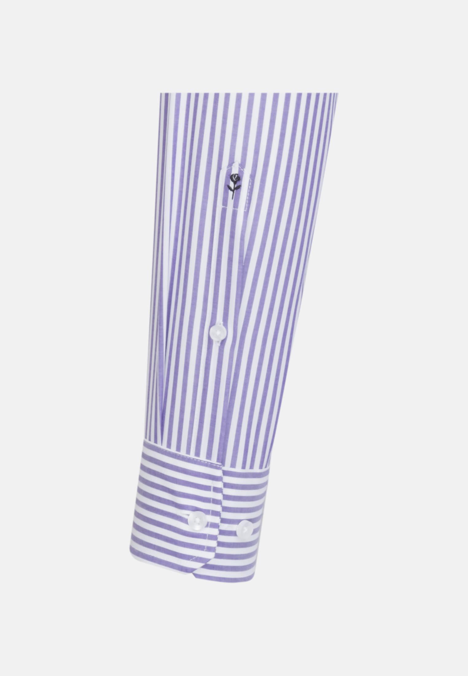 Non-iron Poplin Business Shirt in Shaped with Kent-Collar in Purple |  Seidensticker Onlineshop