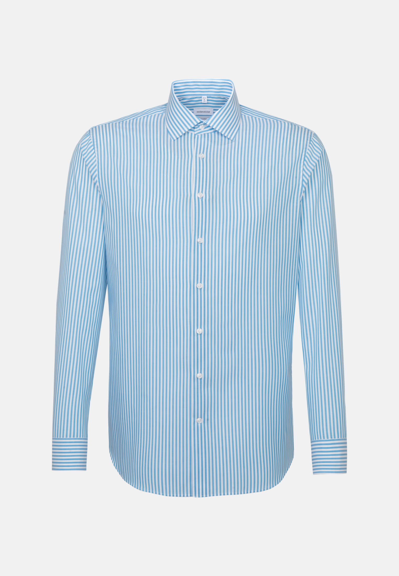 Non-iron Poplin Business Shirt in Shaped with Kent-Collar in Turquoise    Seidensticker Onlineshop