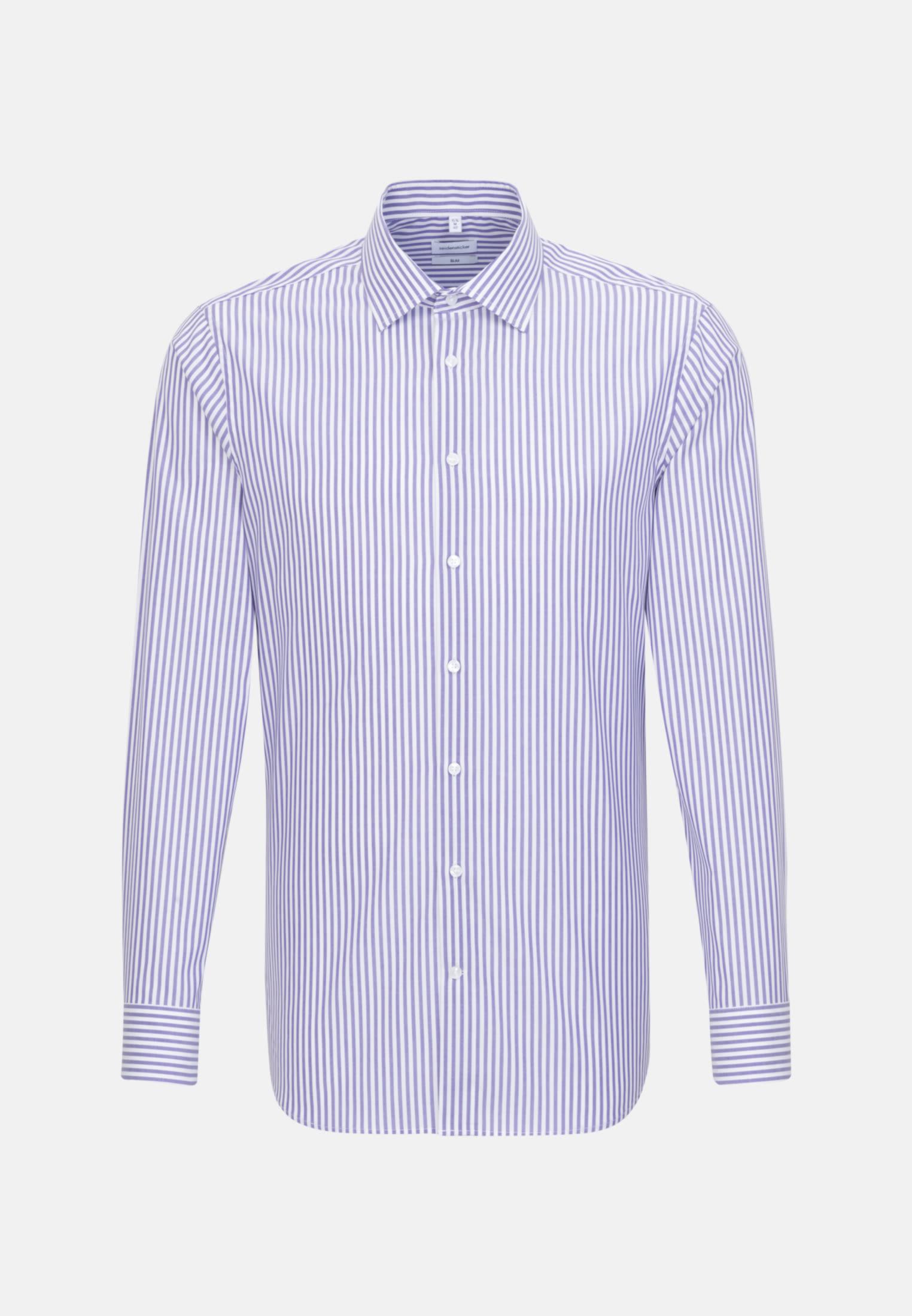 Bügelfreies Popeline Business Hemd in Slim mit Kentkragen in Lila |  Seidensticker Onlineshop