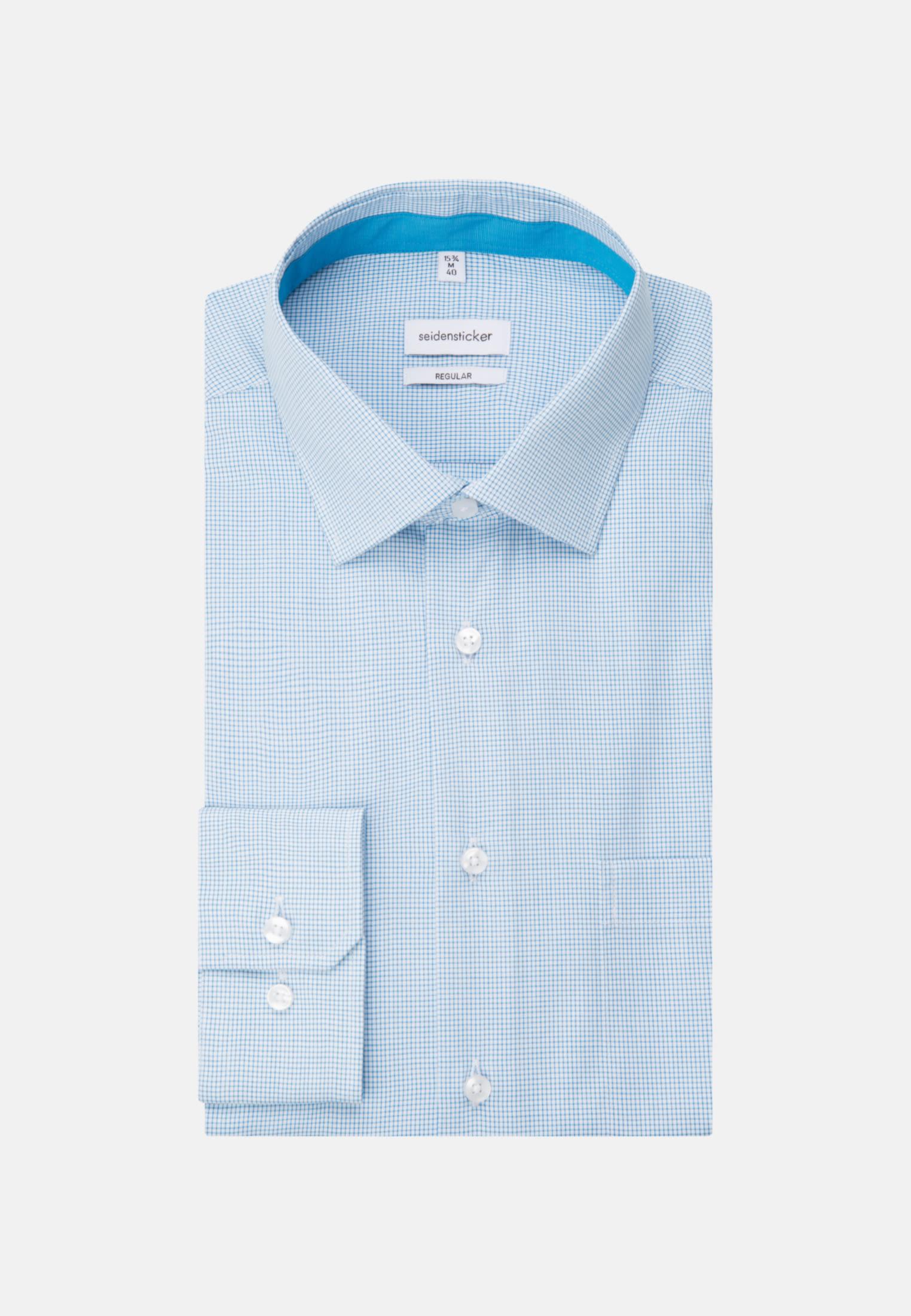 Non-iron Poplin Business Shirt in Regular with Kent-Collar in Turquoise |  Seidensticker Onlineshop