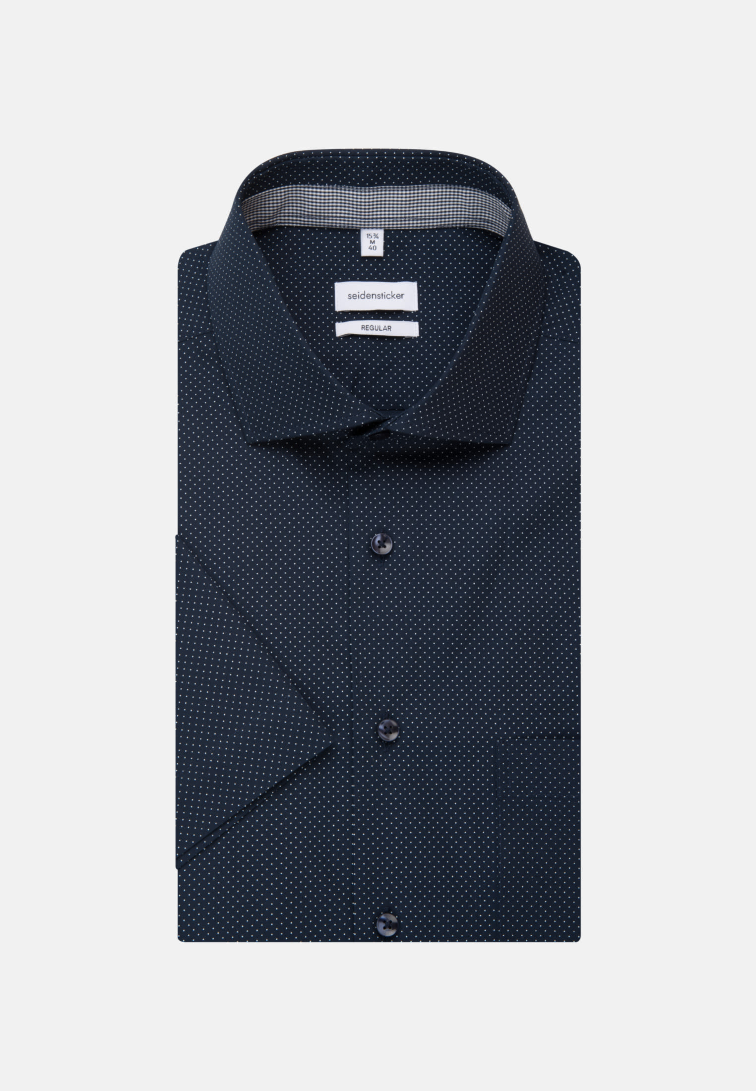 Easy-iron Poplin Short sleeve Business Shirt in Regular with Kent-Collar in Dark blue |  Seidensticker Onlineshop