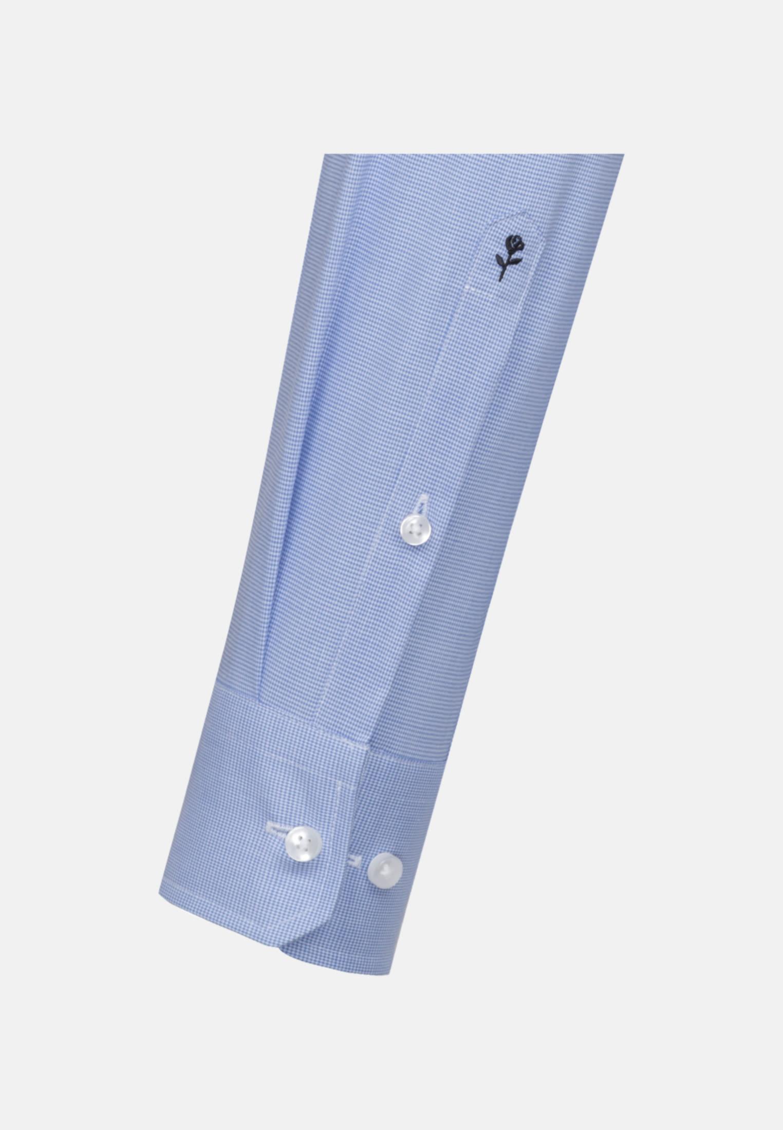 Bügelfreies Pepita Business Hemd in X-Slim mit Kentkragen und extra langem Arm in Hellblau    Seidensticker Onlineshop