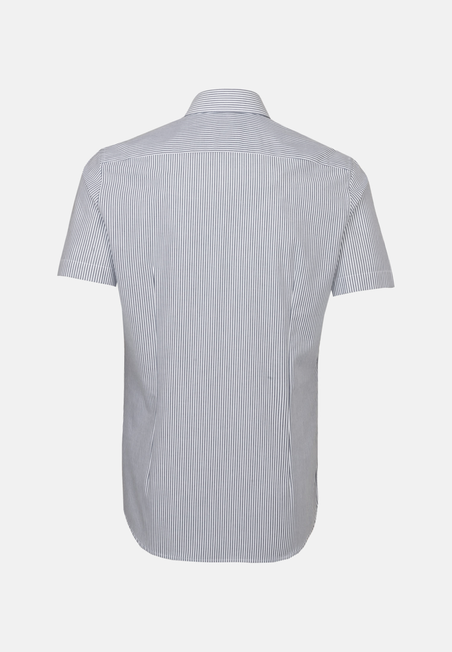 Bügelfreies Popeline Kurzarm Business Hemd in Slim mit Kentkragen in Dunkelblau |  Seidensticker Onlineshop