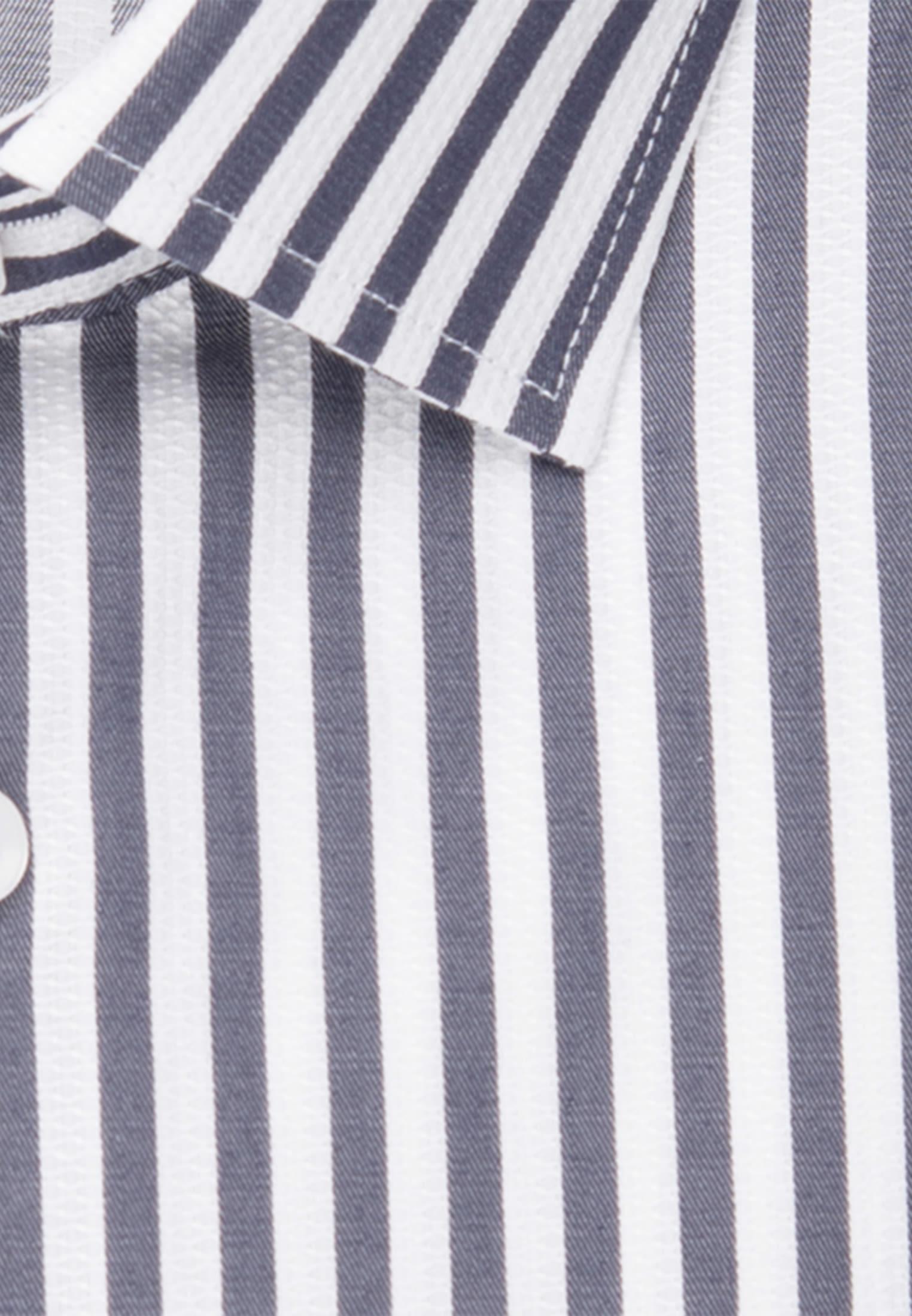 Bügelleichtes Struktur Business Hemd in Slim mit Kentkragen in Dunkelblau |  Seidensticker Onlineshop