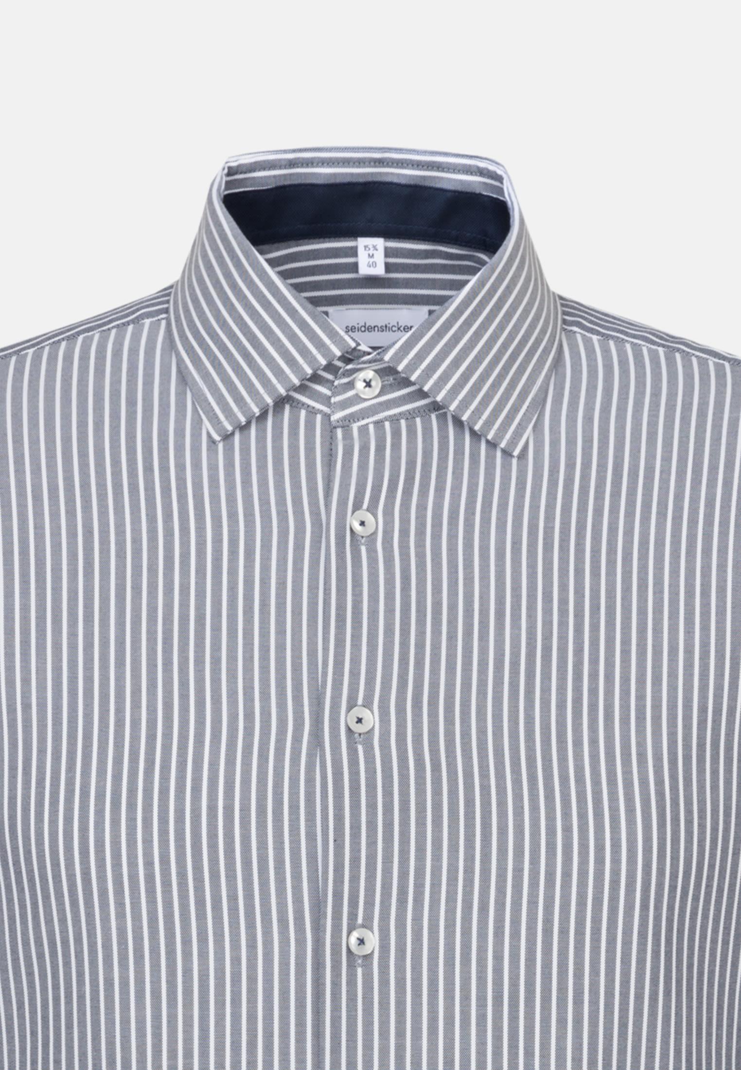 Bügelfreies Oxford Business Hemd in Slim mit Kentkragen in Dunkelblau |  Seidensticker Onlineshop