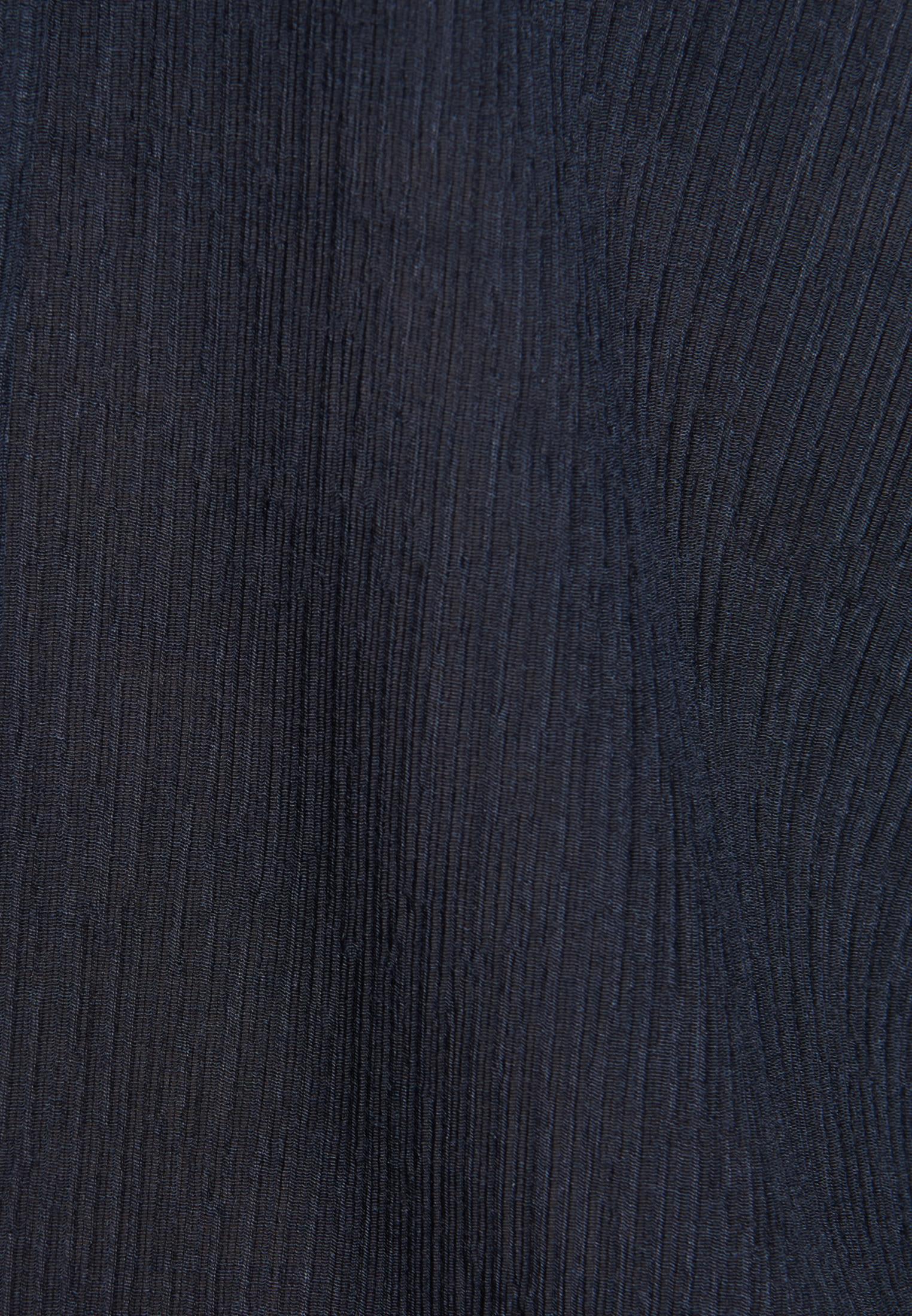 Kurzarm Voile Schluppenbluse aus Viskosemischung in Dunkelblau |  Seidensticker Onlineshop