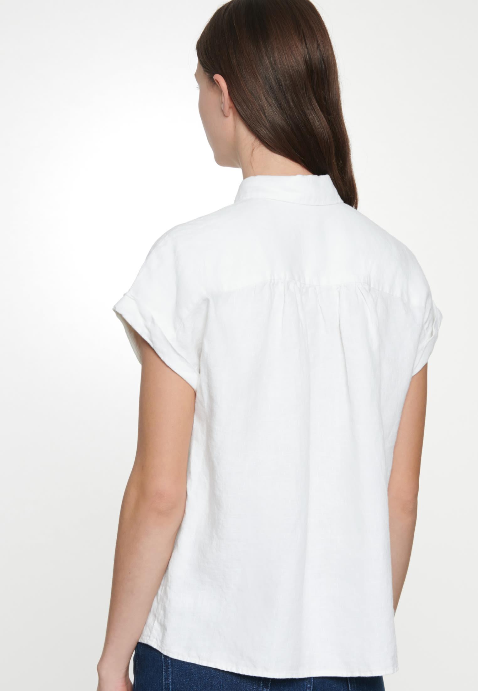 Ärmellose Leinen Hemdbluse aus 100% Leinen in Weiß |  Seidensticker Onlineshop