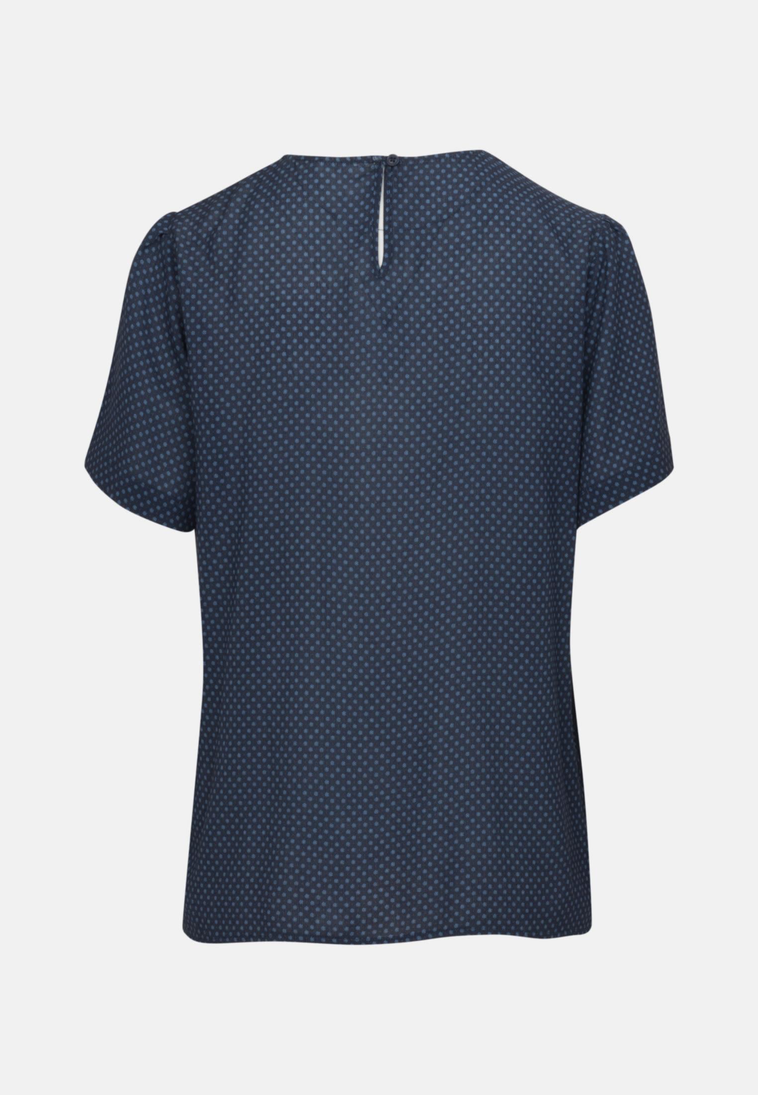 Short sleeve Crepe Shirt Blouse made of 100% Viscose in Dark blue |  Seidensticker Onlineshop