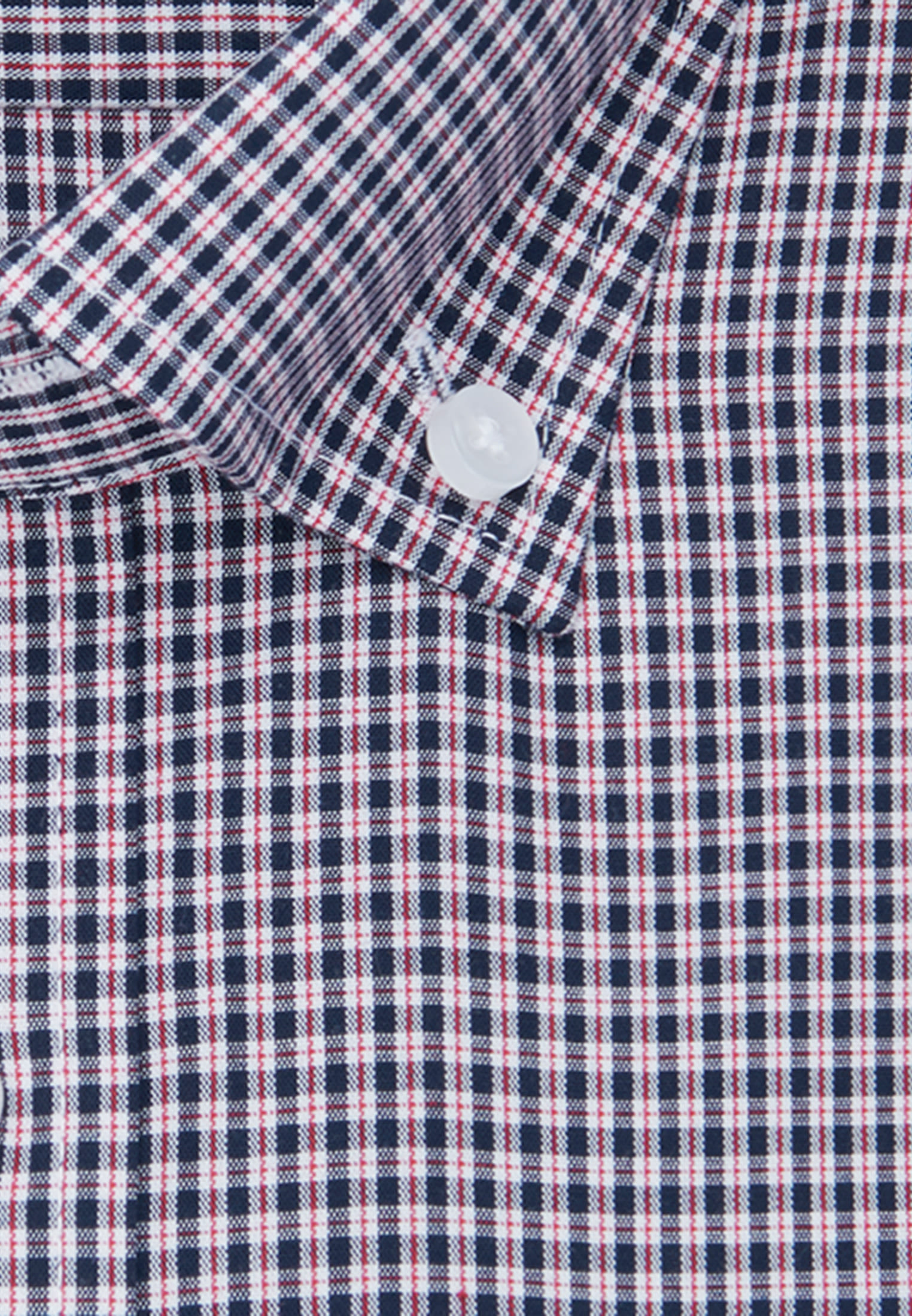 Bügelfreies Popeline Kurzarm Business Hemd in Shaped mit Button-Down-Kragen in Rot |  Seidensticker Onlineshop