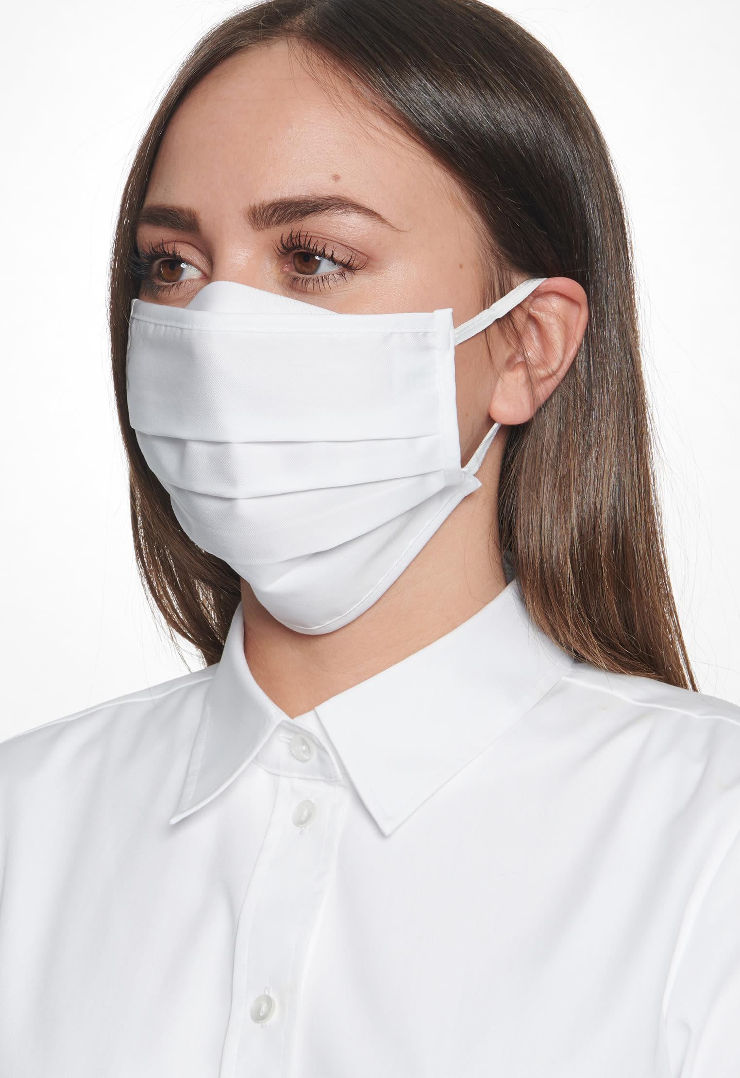 10er-Pack Mund-Nasen-Masken aus 100% Baumwolle in Weiß    Seidensticker Onlineshop