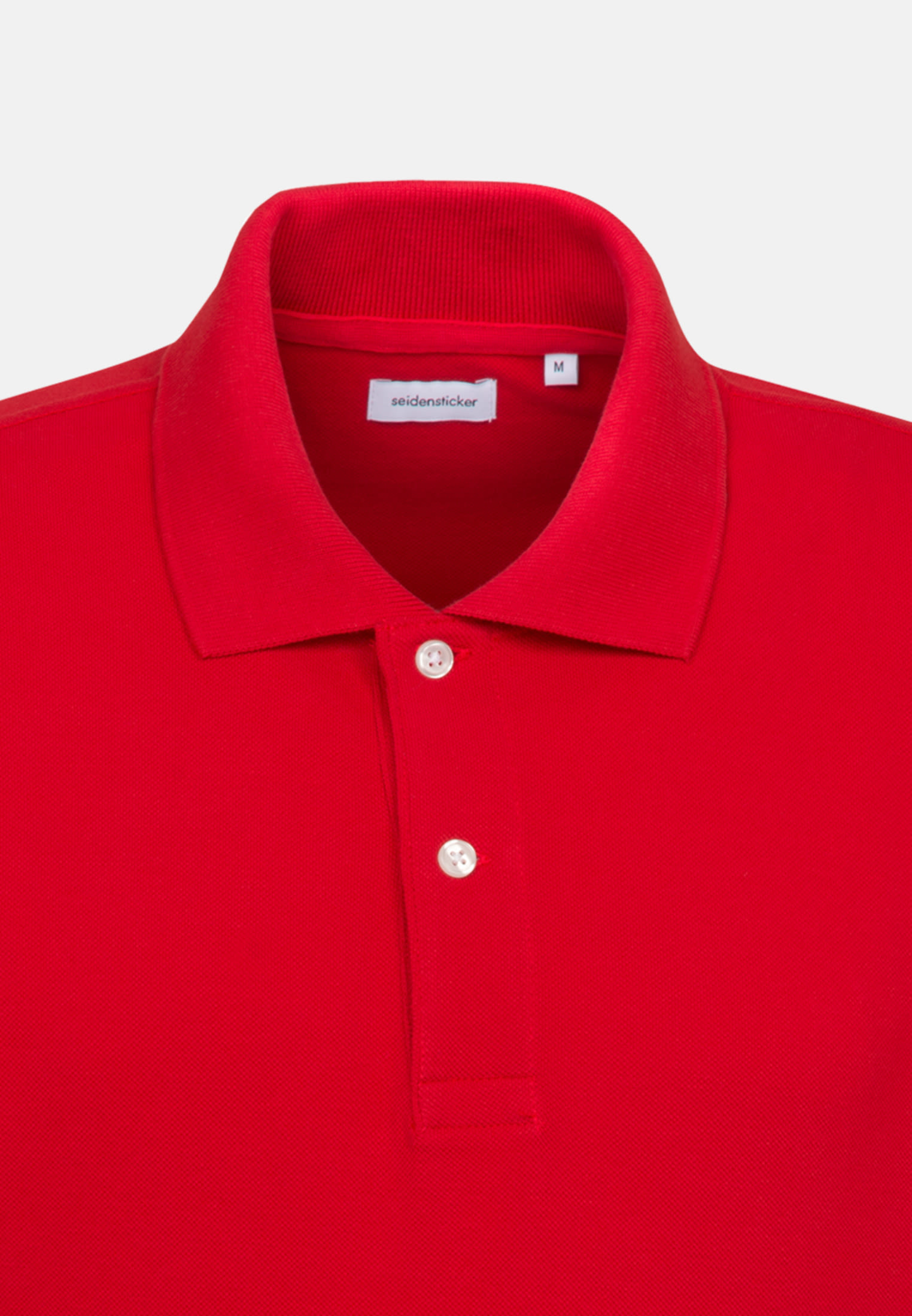 Polo-Shirt aus 100% Baumwolle in Rot |  Seidensticker Onlineshop