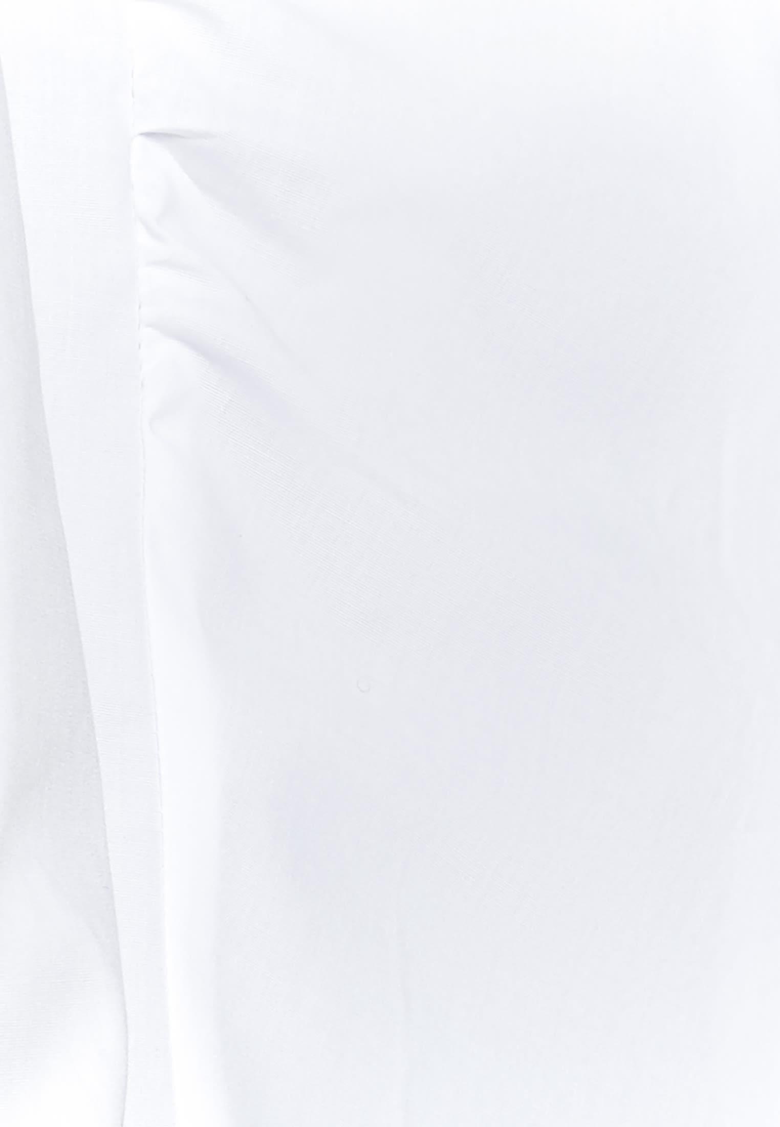 Popeline Kelchkragenbluse aus 96% Baumwolle 4% Elastan in weiß |  Seidensticker Onlineshop