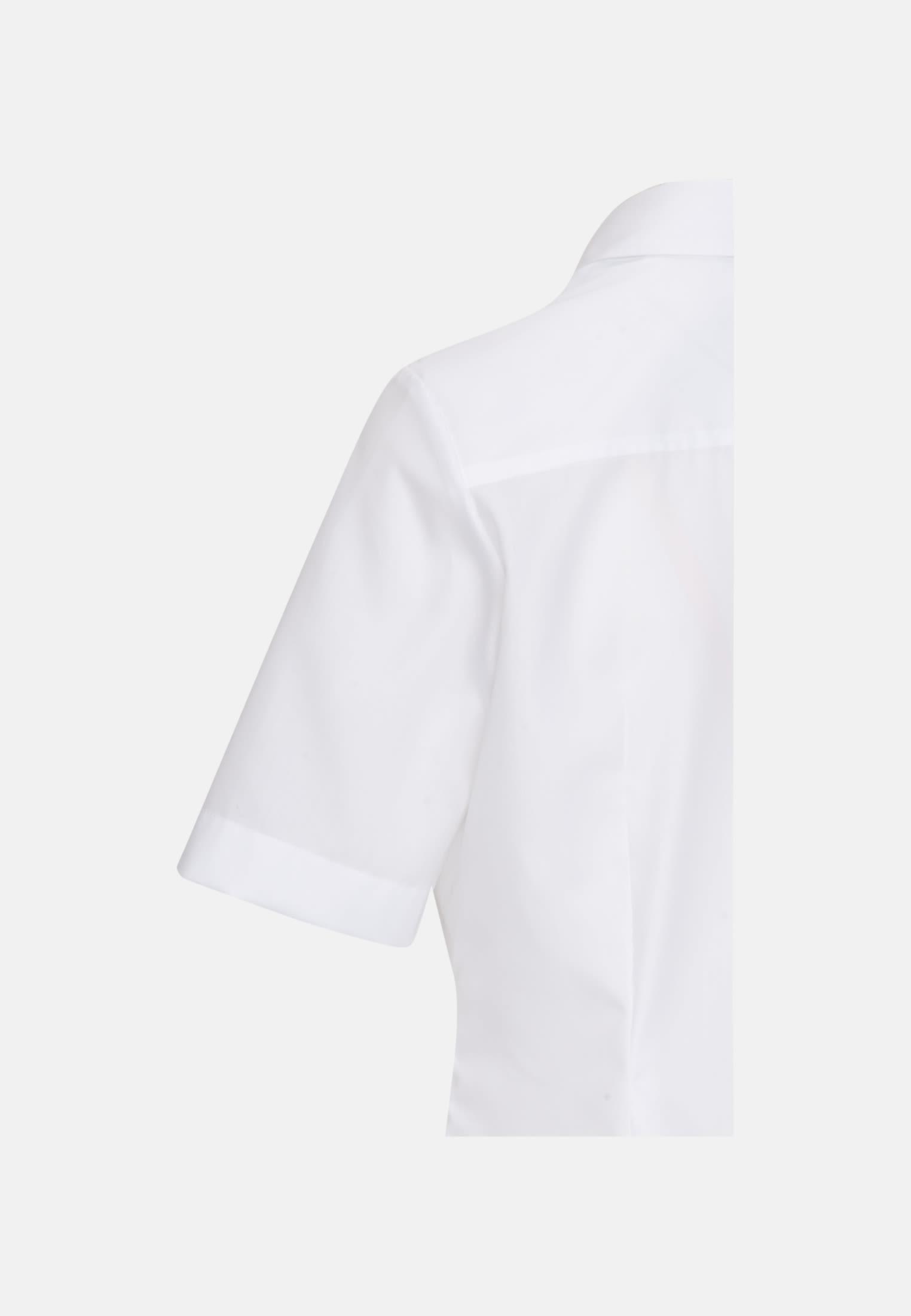 Bügelfreie Kurzarm Popeline Hemdbluse aus 100% Baumwolle in Weiß    Seidensticker Onlineshop