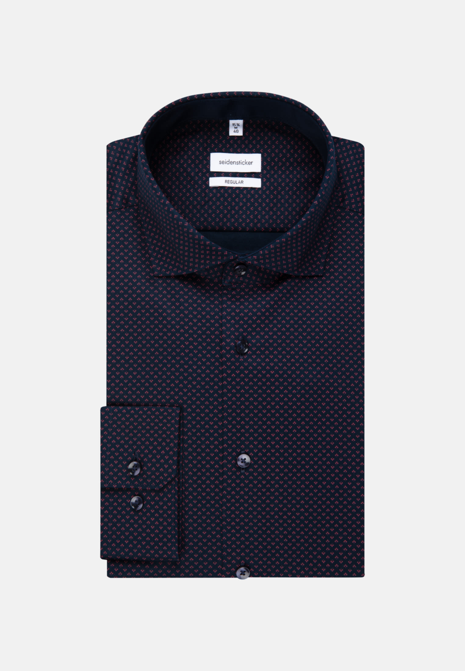 Easy-iron Twill Business Shirt in Regular with Kent-Collar in Rot |  Seidensticker Onlineshop