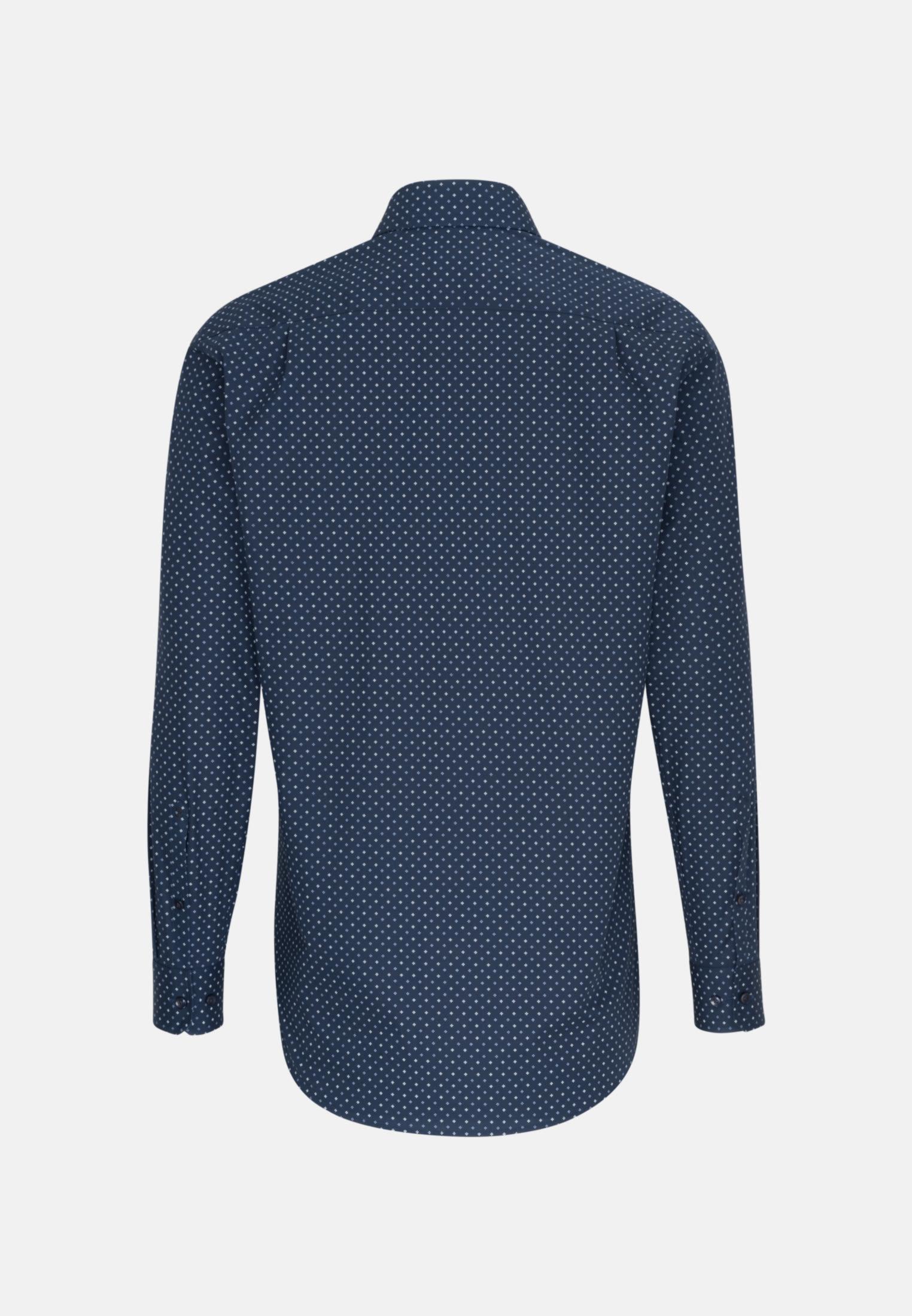 Bügelleichtes Popeline Business Hemd in Regular mit Kentkragen in Dunkelblau |  Seidensticker Onlineshop