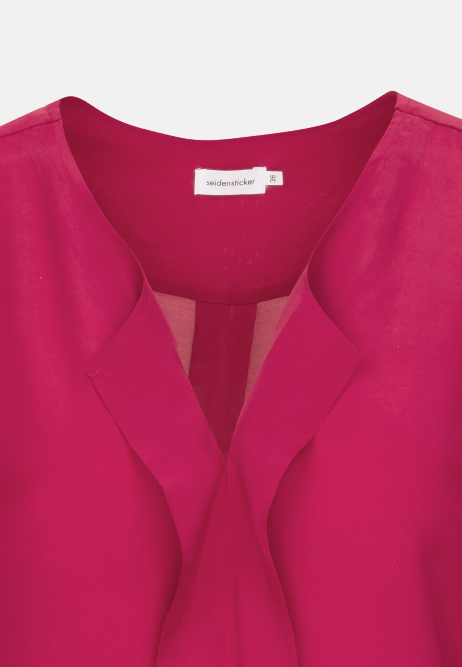 Voile Slip Over Blouse made of 100% Viscose in Red |  Seidensticker Onlineshop