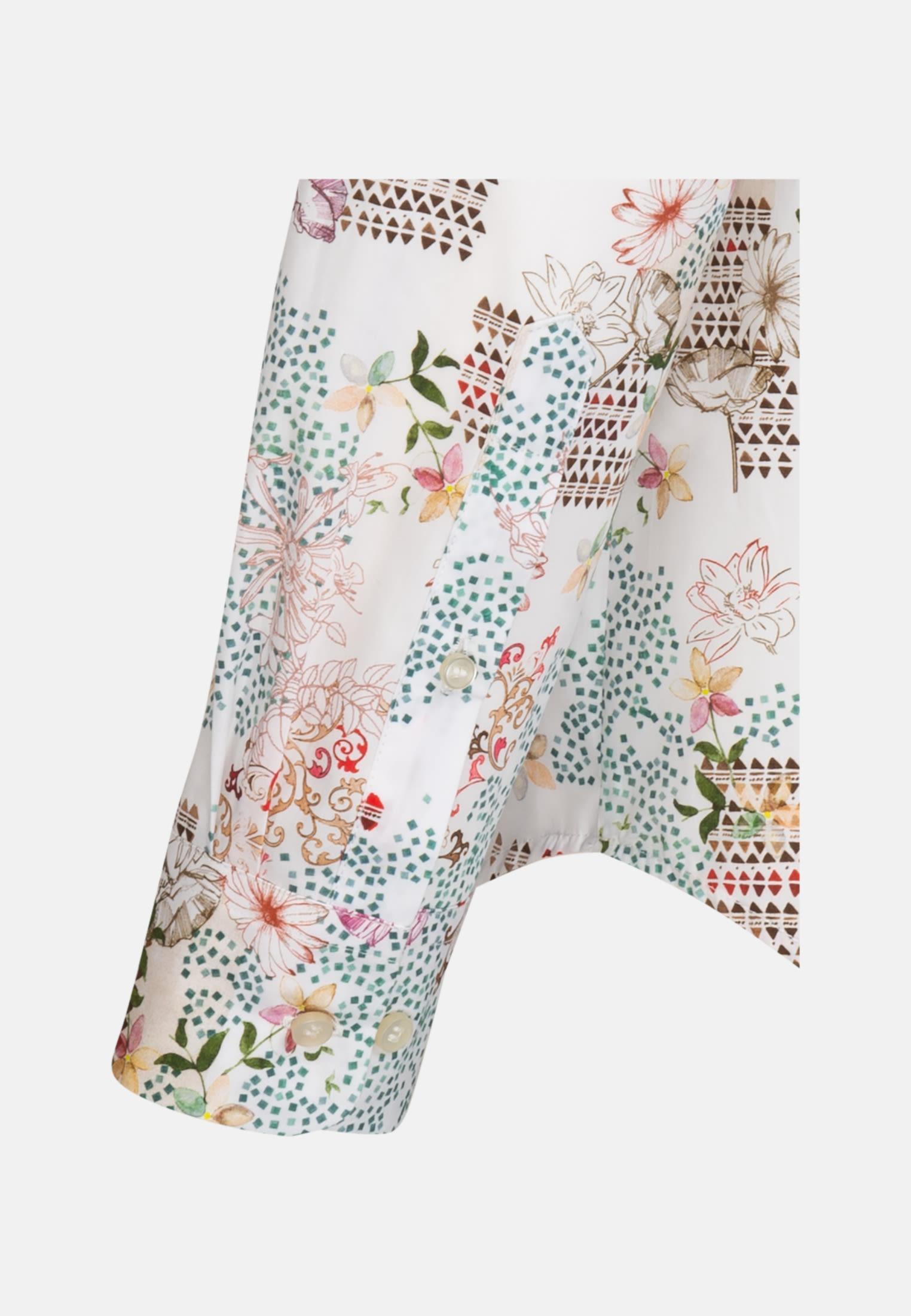 Struktur Hemdbluse aus 100% Baumwolle in Braun    Seidensticker Onlineshop