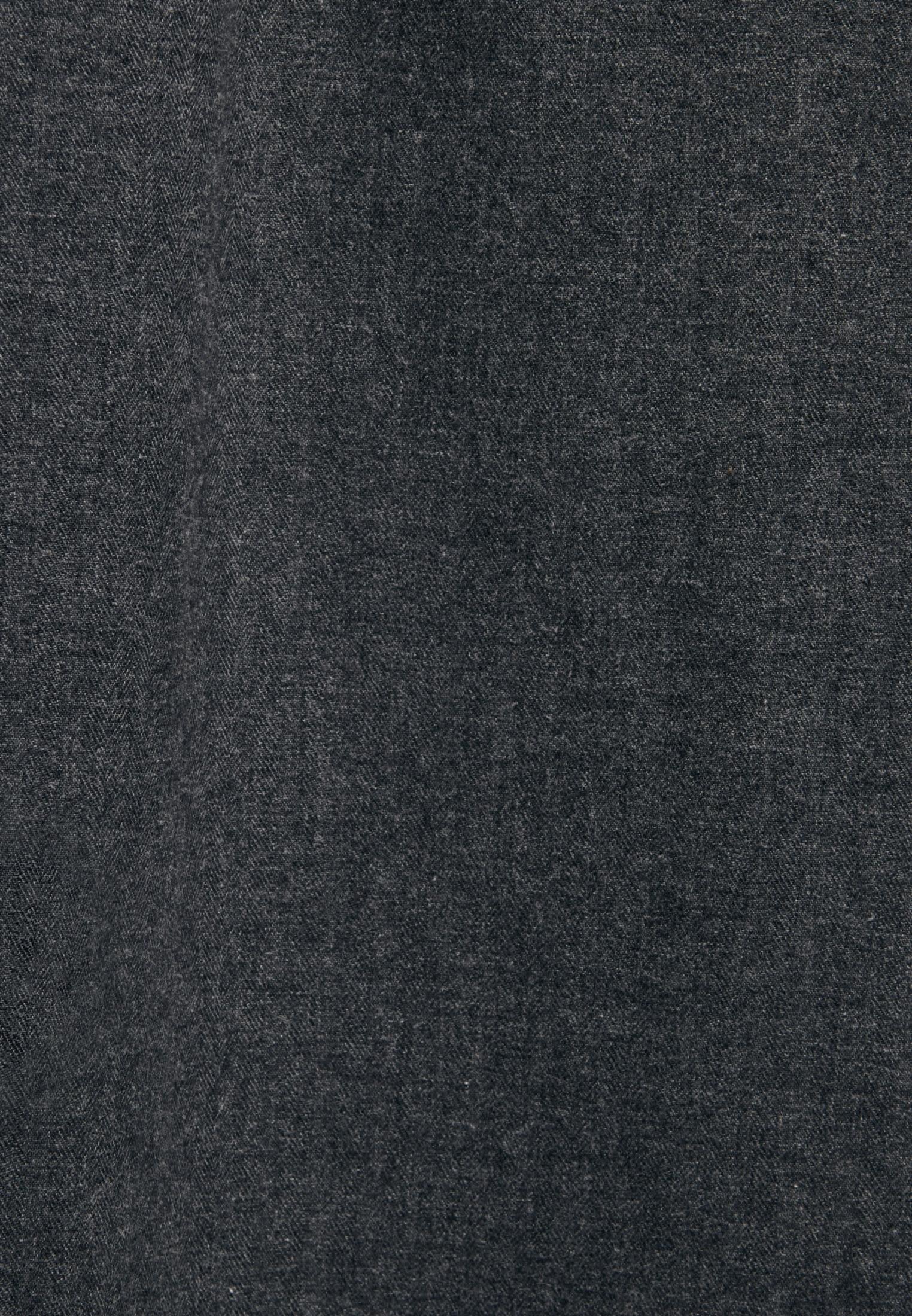 Flanell Midi Rock aus 100% Baumwolle in Grau |  Seidensticker Onlineshop
