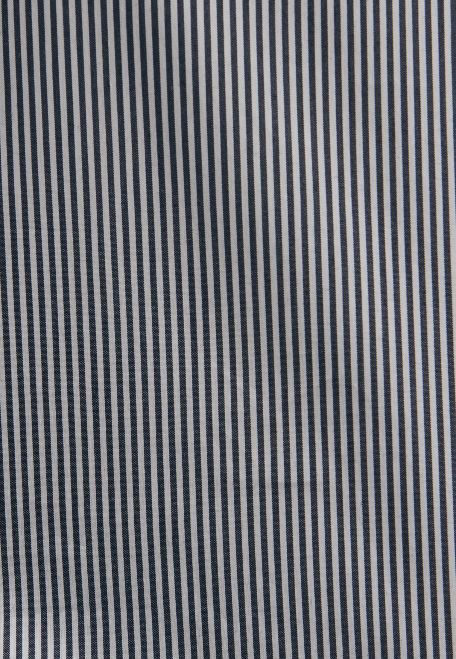 Popeline Hemdbluse aus Baumwollmischung in Dunkelblau |  Seidensticker Onlineshop