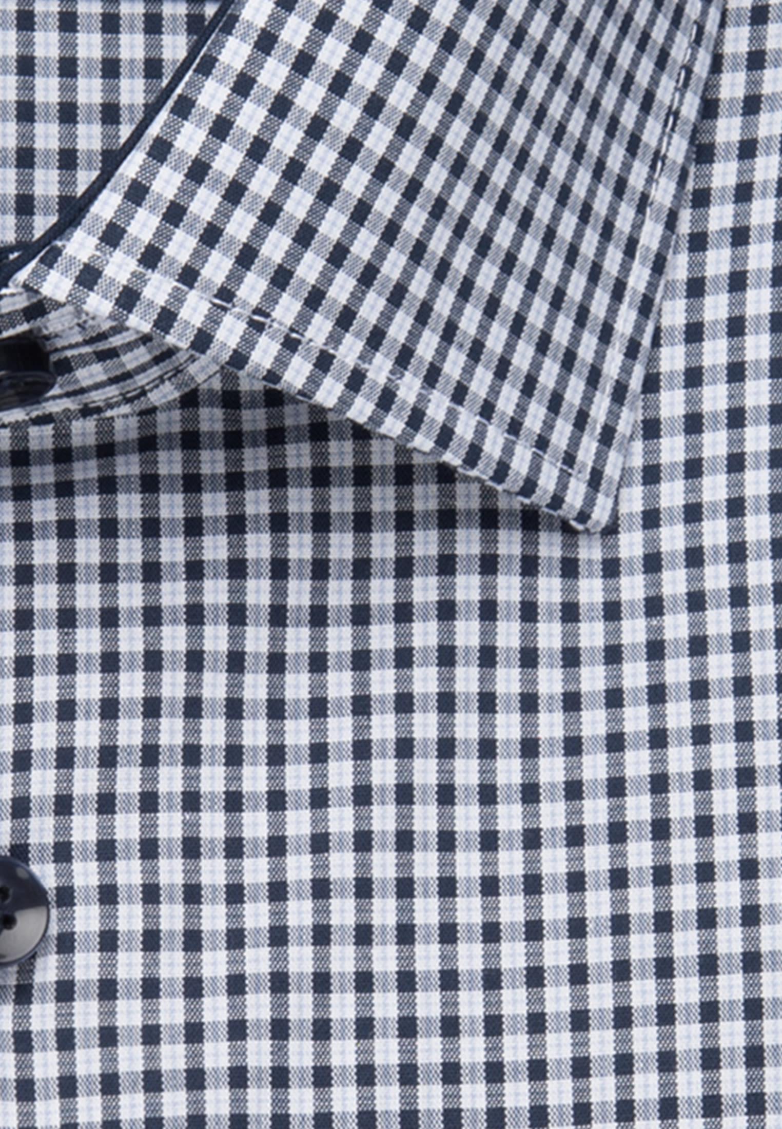 Non-iron Poplin Business Shirt in Regular with Kent-Collar in Dark blue    Seidensticker Onlineshop