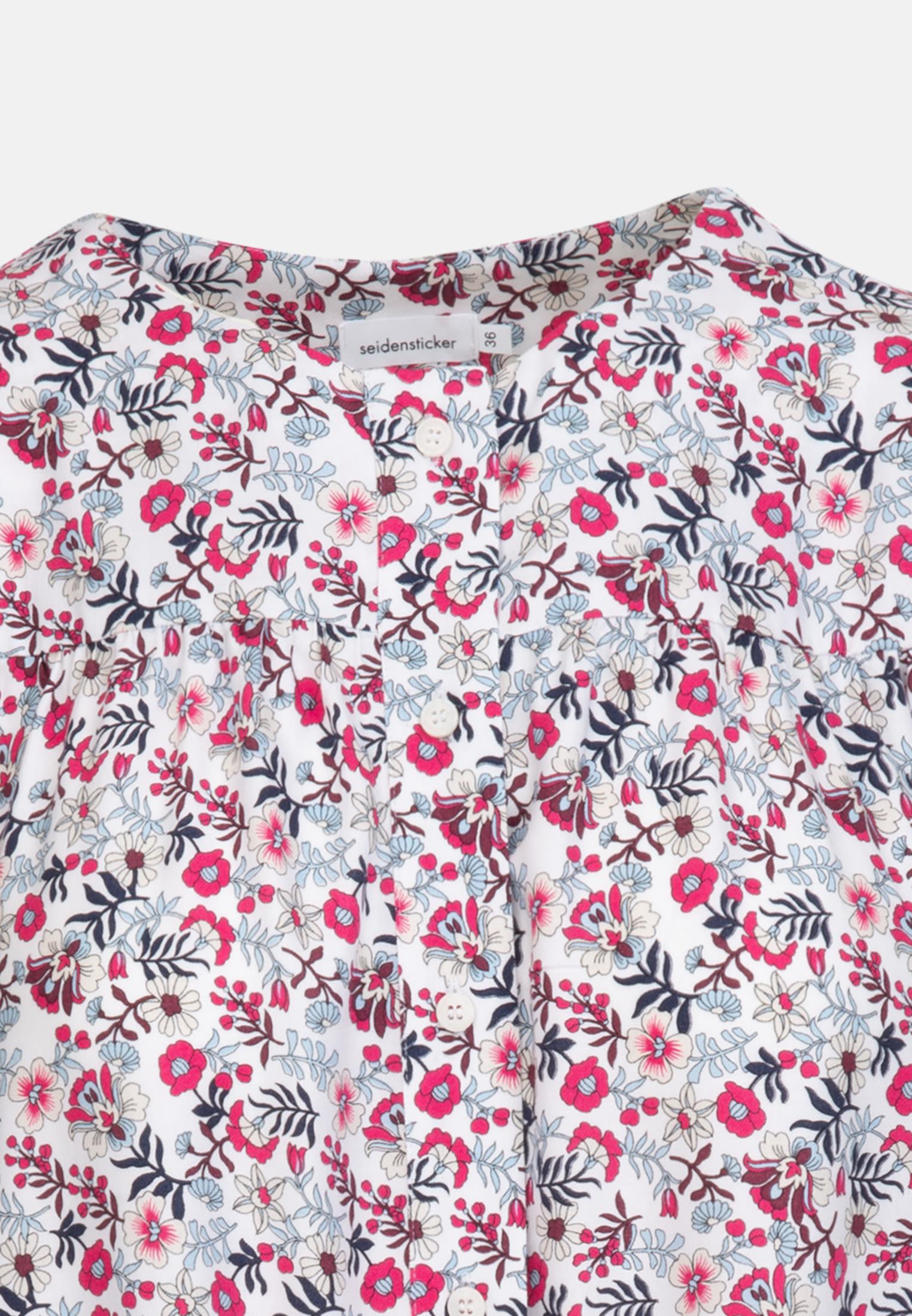 Twill Shirt Blouse made of 100% Viscose in White    Seidensticker Onlineshop