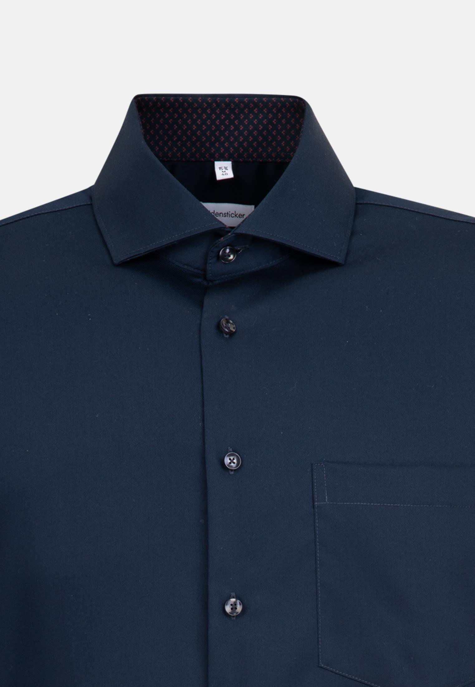 Non-iron Twill Business Shirt in Regular with Kent-Collar in Dunkelblau |  Seidensticker Onlineshop