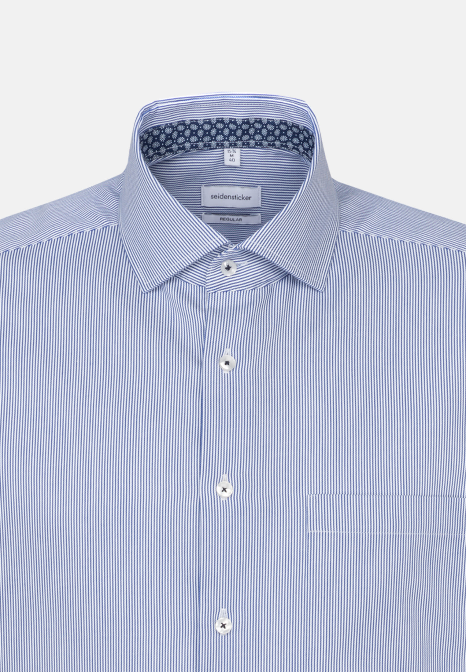 Easy-iron Twill Short sleeve Business Shirt in Regular with Kent-Collar in Medium blue |  Seidensticker Onlineshop