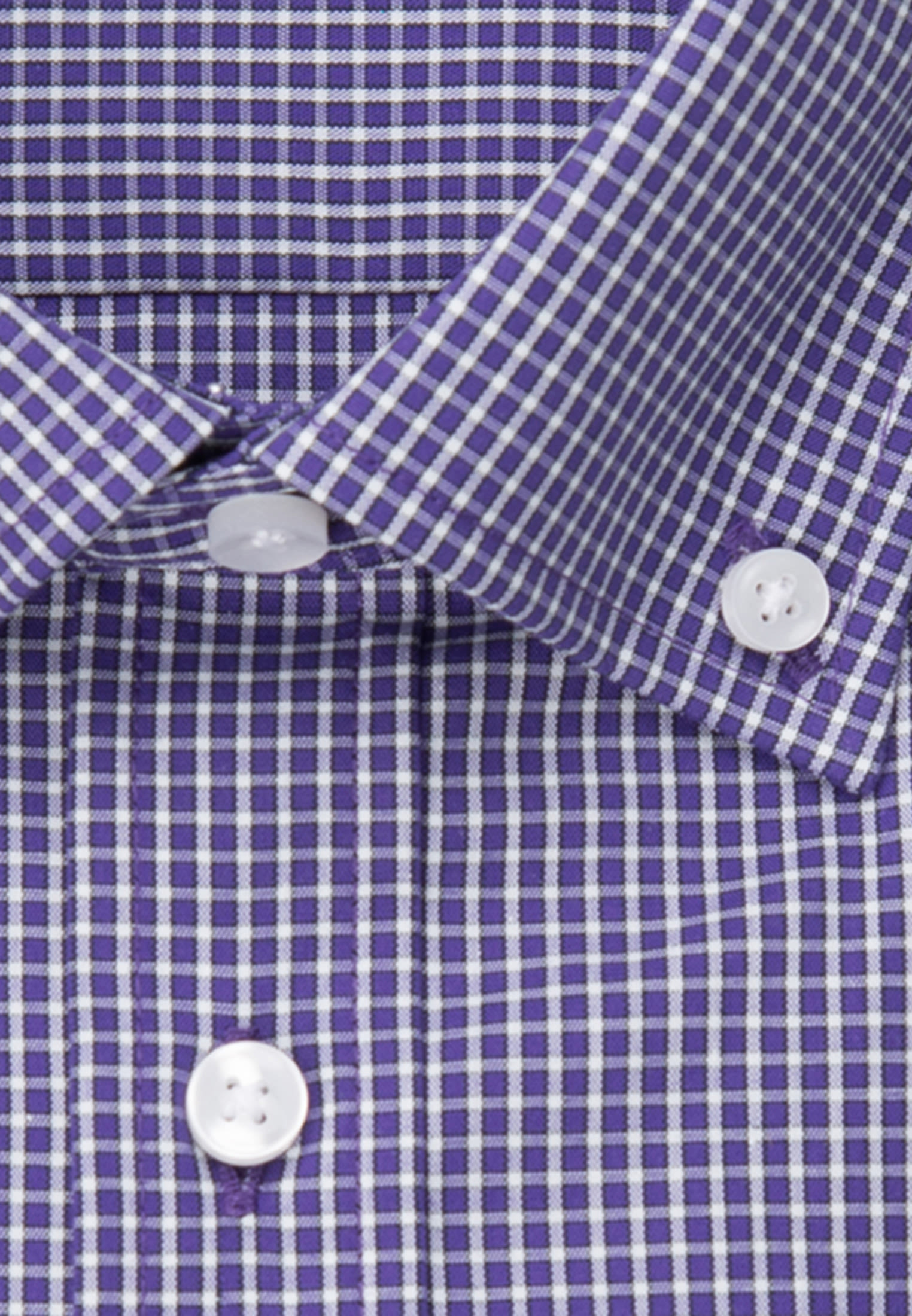 Bügelfreies Popeline Kurzarm Business Hemd in Regular mit Button-Down-Kragen in Lila |  Seidensticker Onlineshop