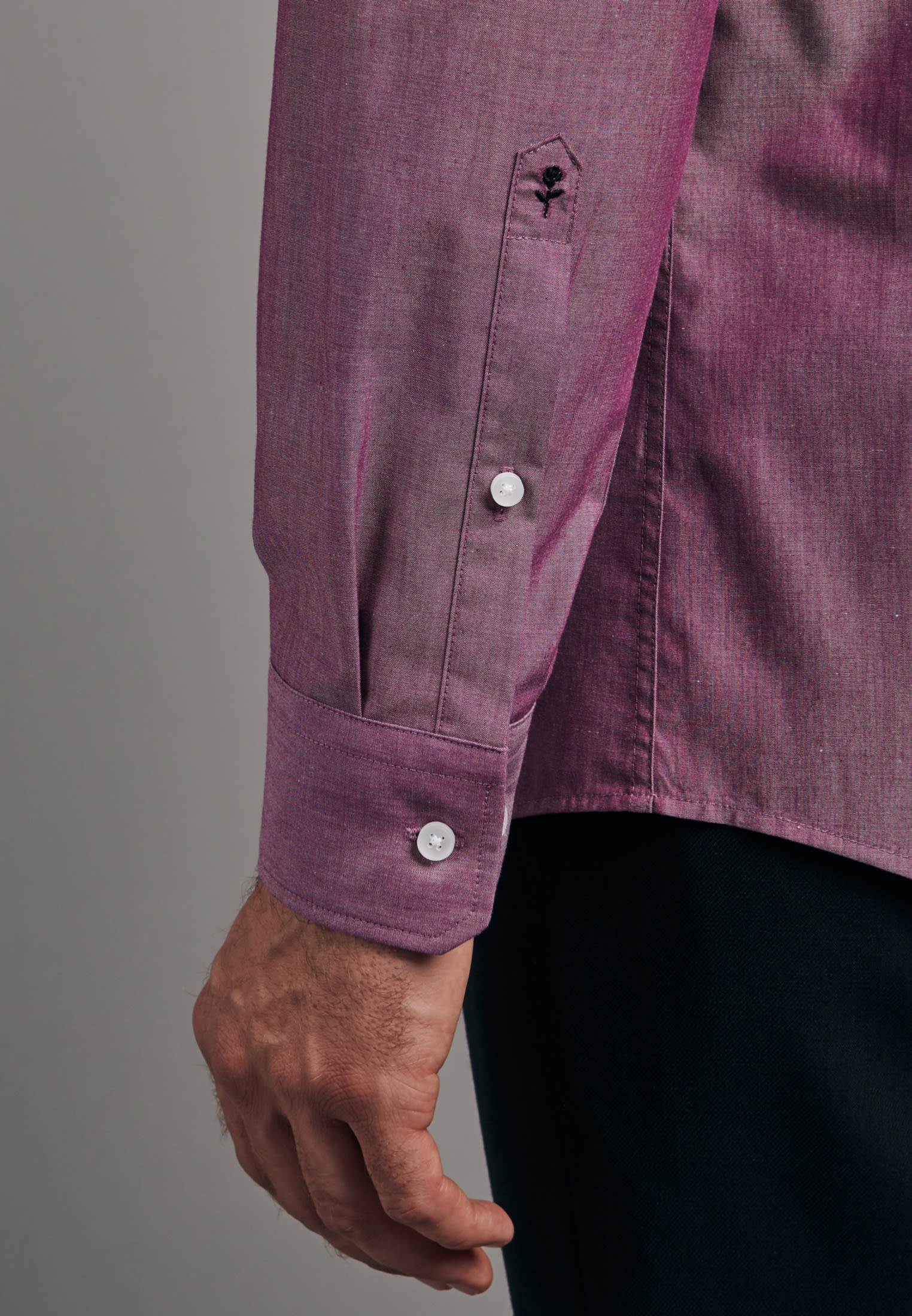 Non-iron Chambray Business Shirt in Regular with Kent-Collar in Pink |  Seidensticker Onlineshop