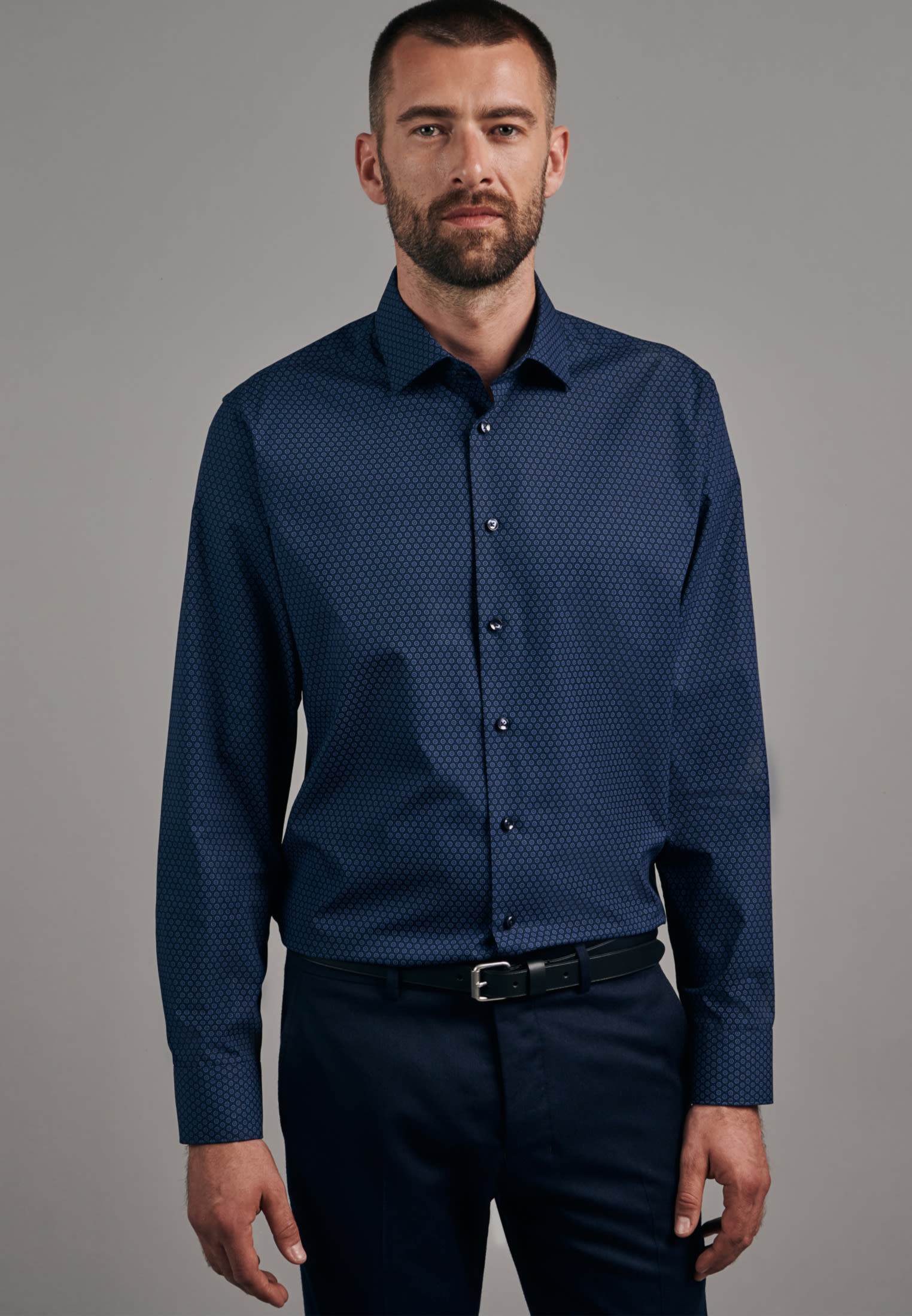 Easy-iron Poplin Business Shirt in Slim with Kent-Collar in Light blue |  Seidensticker Onlineshop