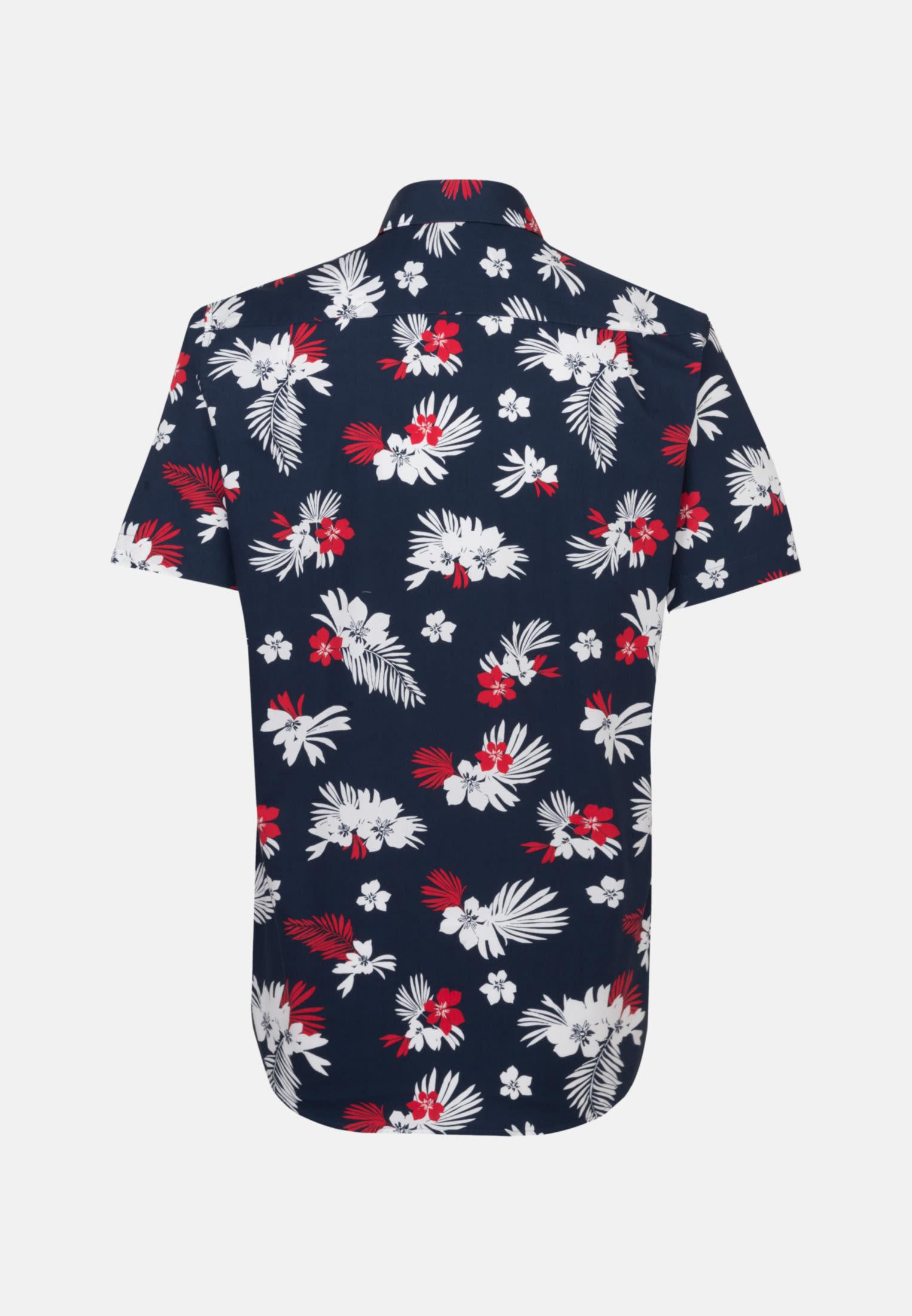 Easy-iron Poplin Short sleeve Business Shirt in Regular with Kent-Collar in Dark blue    Seidensticker Onlineshop