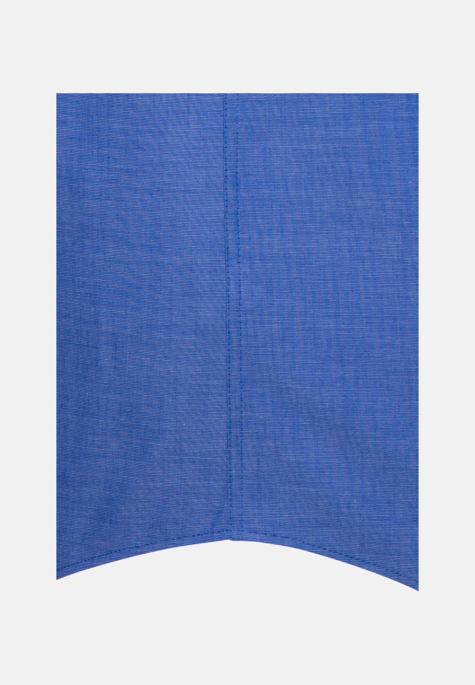 Bügelfreies Fil a fil Kurzarm Business Hemd in Regular mit Kentkragen in Mittelblau |  Seidensticker Onlineshop