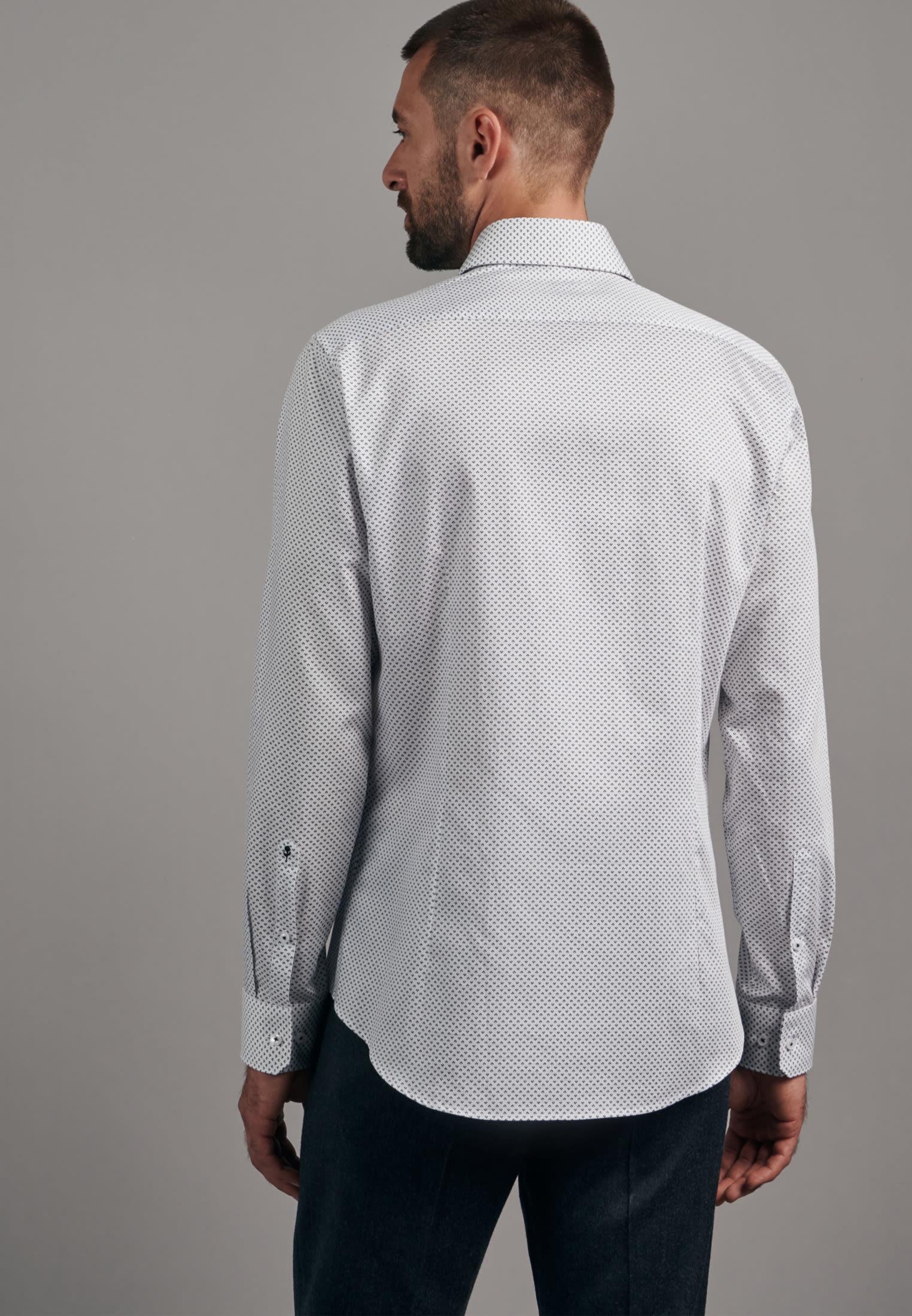 Bügelleichtes Twill Business Hemd in X-Slim mit Kentkragen in Dunkelblau    Seidensticker Onlineshop