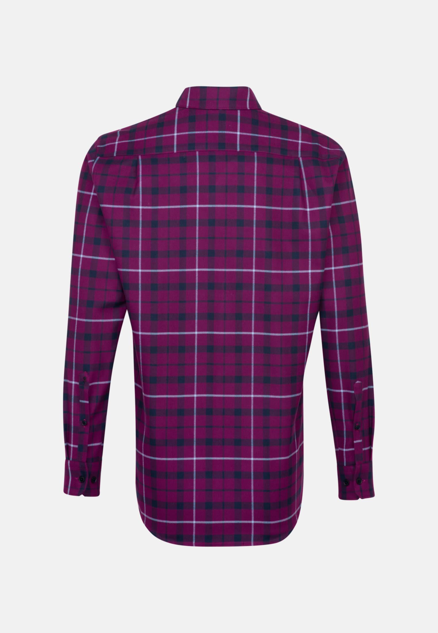 Flannel Business Shirt in Regular with Button-Down-Collar in Pink |  Seidensticker Onlineshop